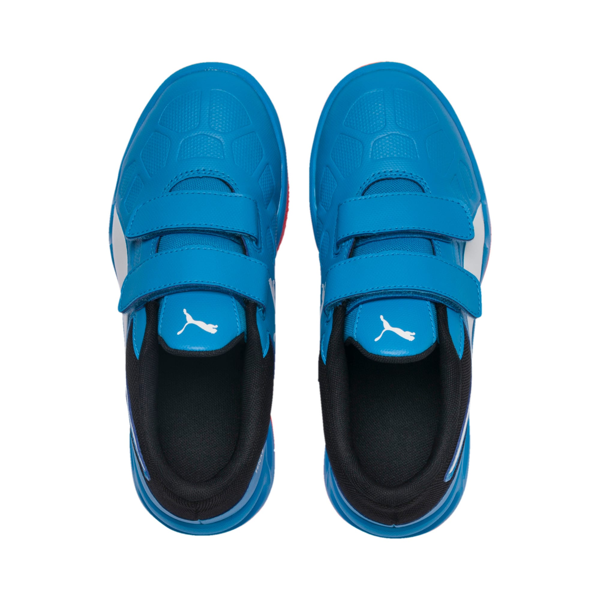Thumbnail 3 of Tenaz V Youth Trainers, Bleu Azur-White-Black-Red, medium-IND