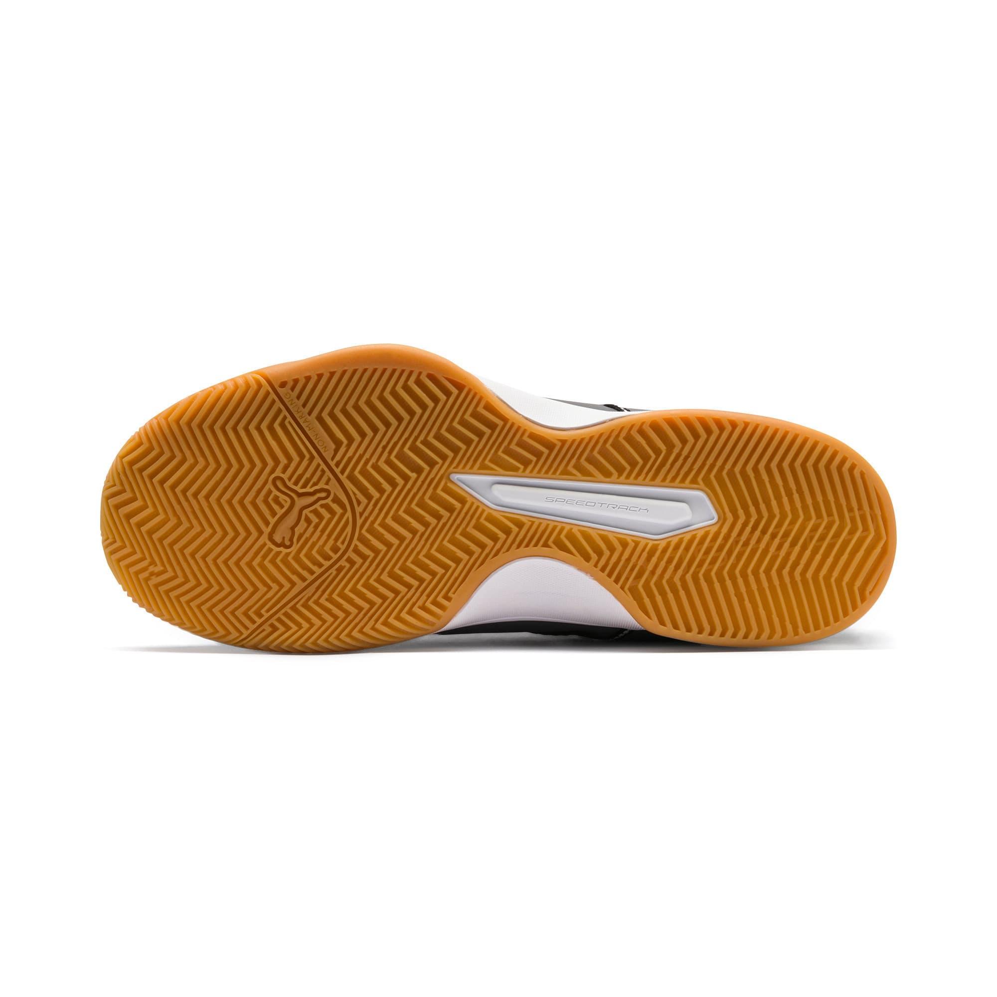 Thumbnail 3 of PUMA Stoker.18 Indoor Training Shoes, Black-White-Iron Gate-Gum, medium-IND