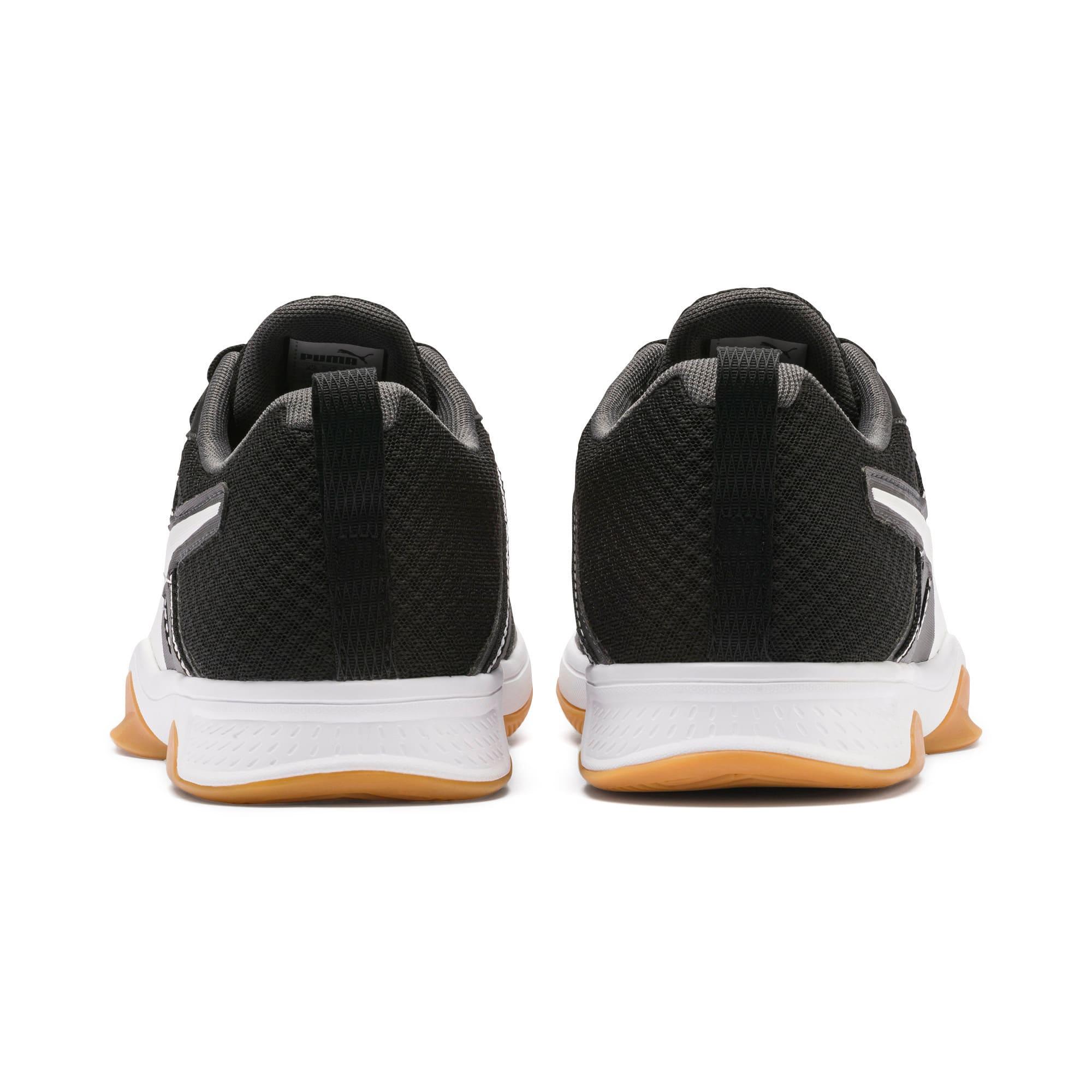 Thumbnail 2 of PUMA Stoker.18 Indoor Training Shoes, Black-White-Iron Gate-Gum, medium-IND