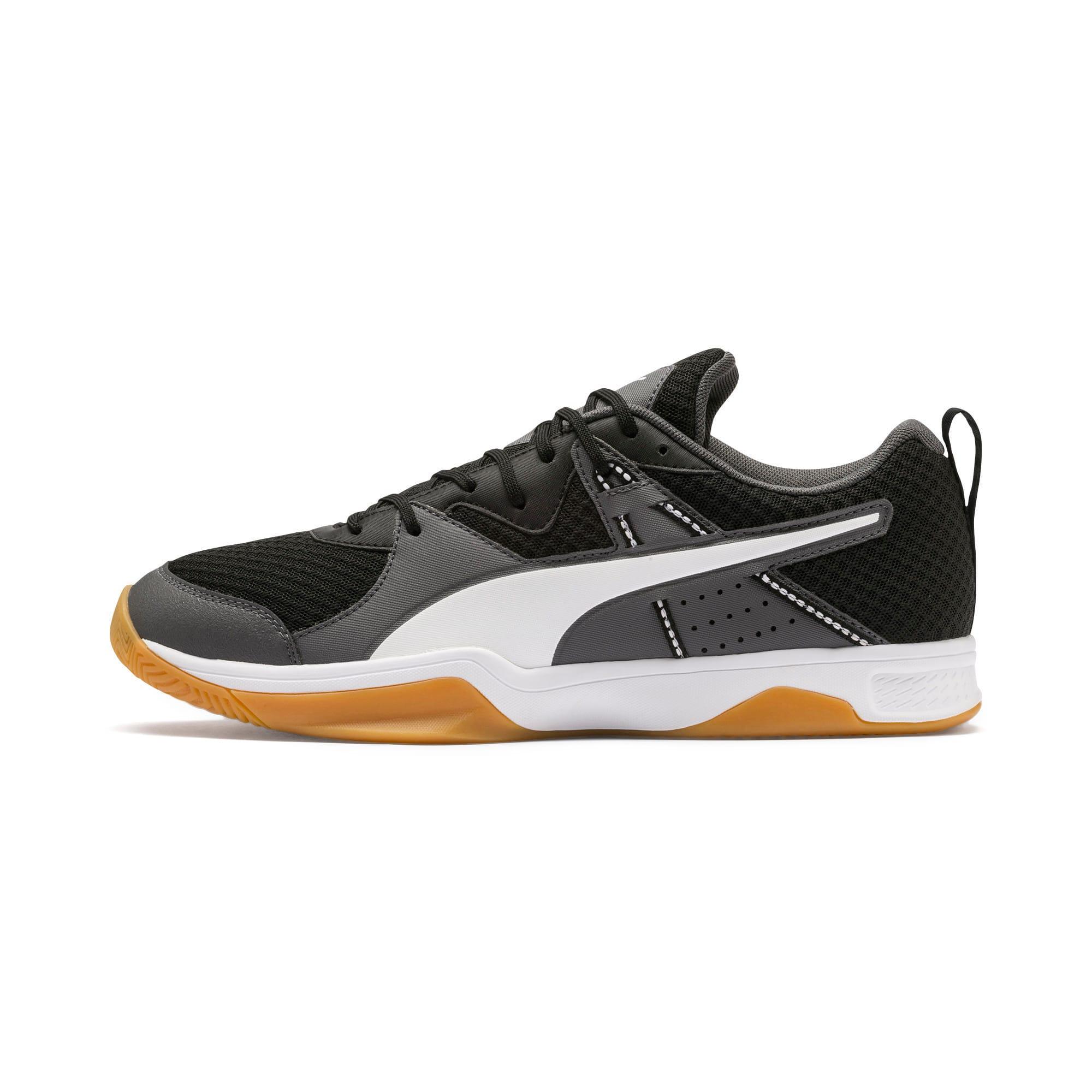 Thumbnail 1 of PUMA Stoker.18 Indoor Training Shoes, Black-White-Iron Gate-Gum, medium-IND