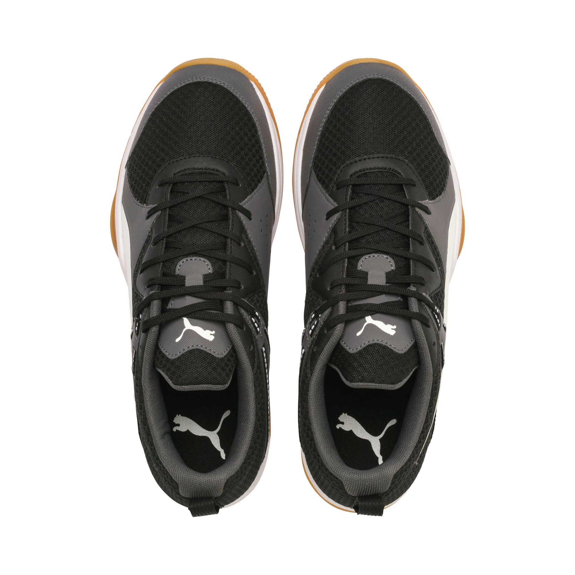 Thumbnail 4 of PUMA Stoker.18 Indoor Training Shoes, Black-White-Iron Gate-Gum, medium-IND