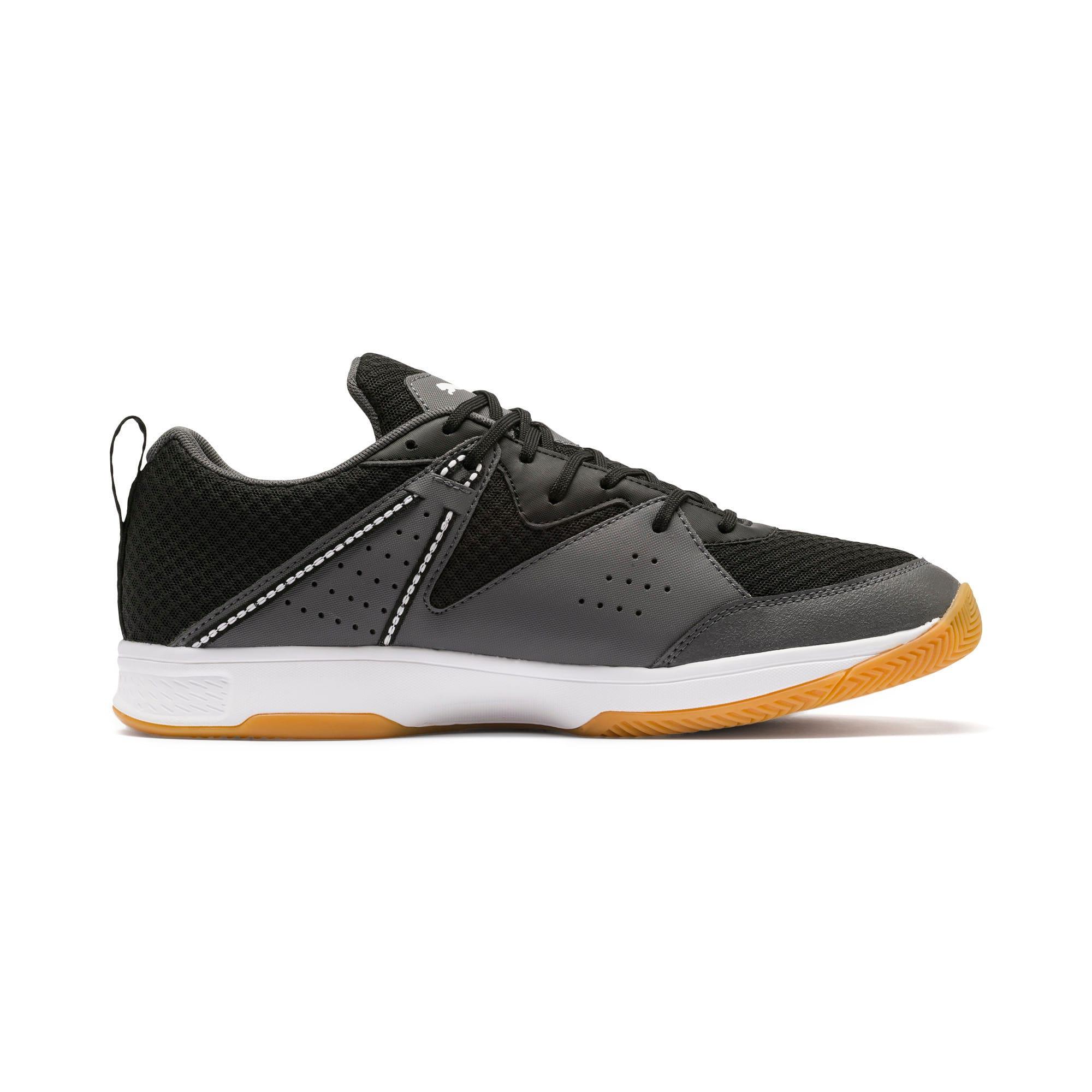 Thumbnail 5 of PUMA Stoker.18 Indoor Training Shoes, Black-White-Iron Gate-Gum, medium-IND