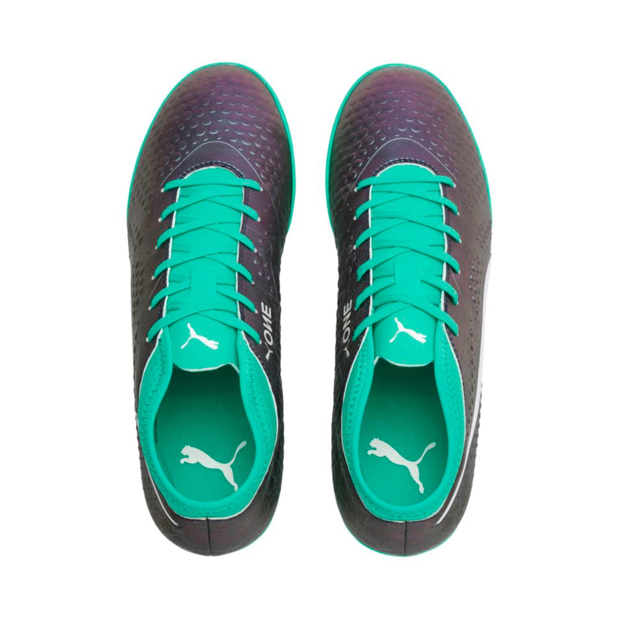 Thumbnail 3 of ONE 4 ILLUMINATE Synthetic TT  Football Boots, Col Shift-Green-White-Black, medium-IND
