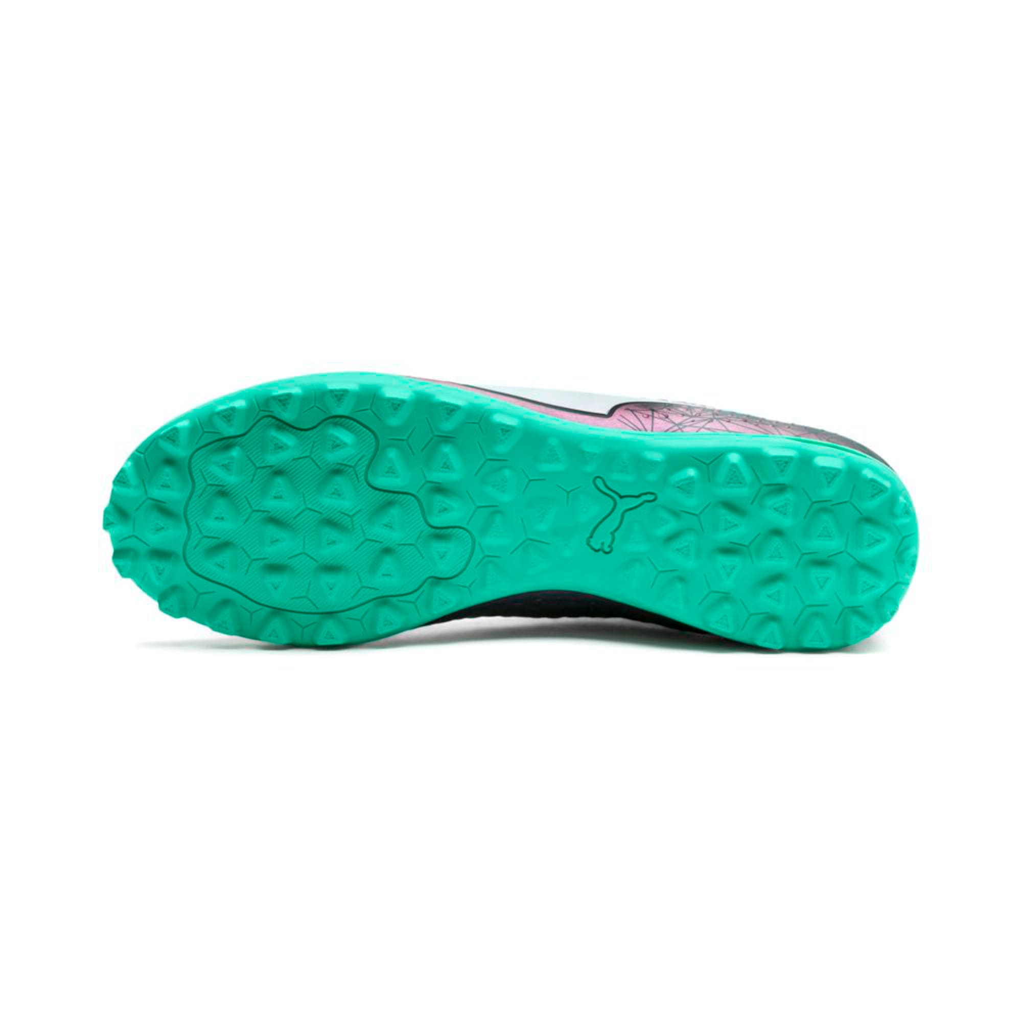Thumbnail 2 of ONE 4 ILLUMINATE Synthetic TT  Football Boots, Col Shift-Green-White-Black, medium-IND