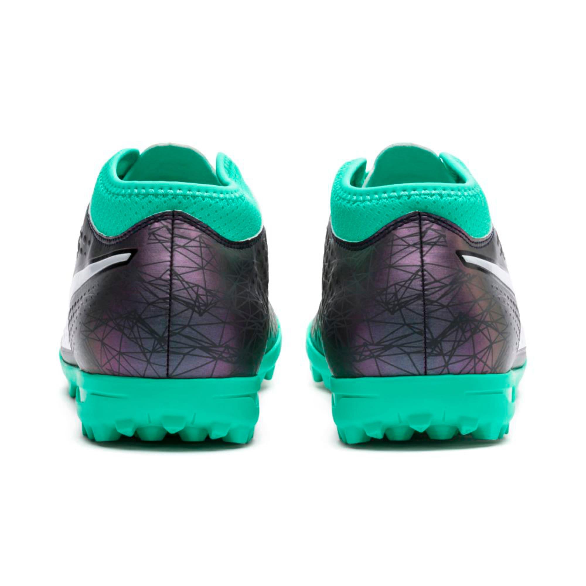 Thumbnail 4 of ONE 4 ILLUMINATE Synthetic TT  Football Boots, Col Shift-Green-White-Black, medium-IND