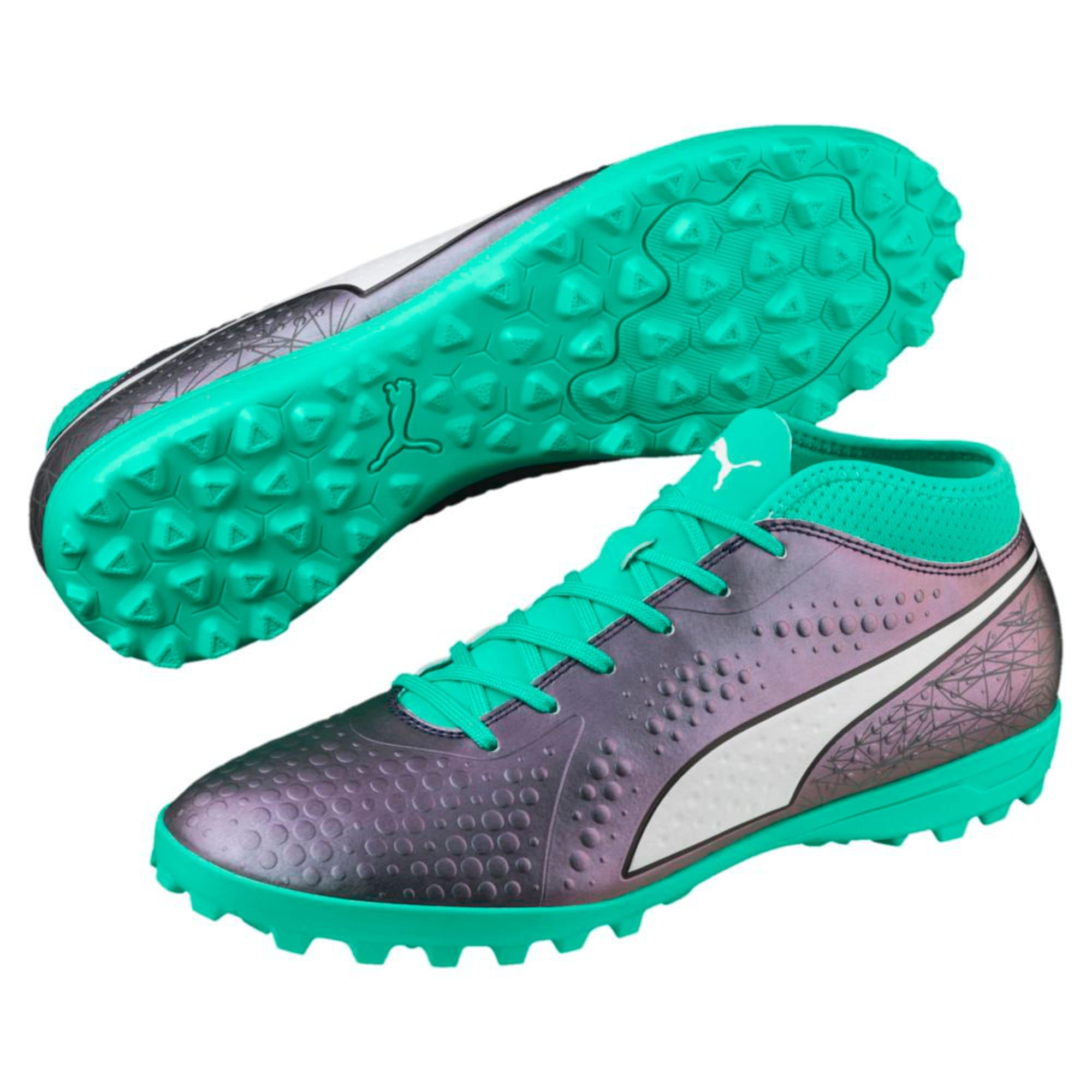 Thumbnail 6 of ONE 4 ILLUMINATE Synthetic TT  Football Boots, Col Shift-Green-White-Black, medium-IND