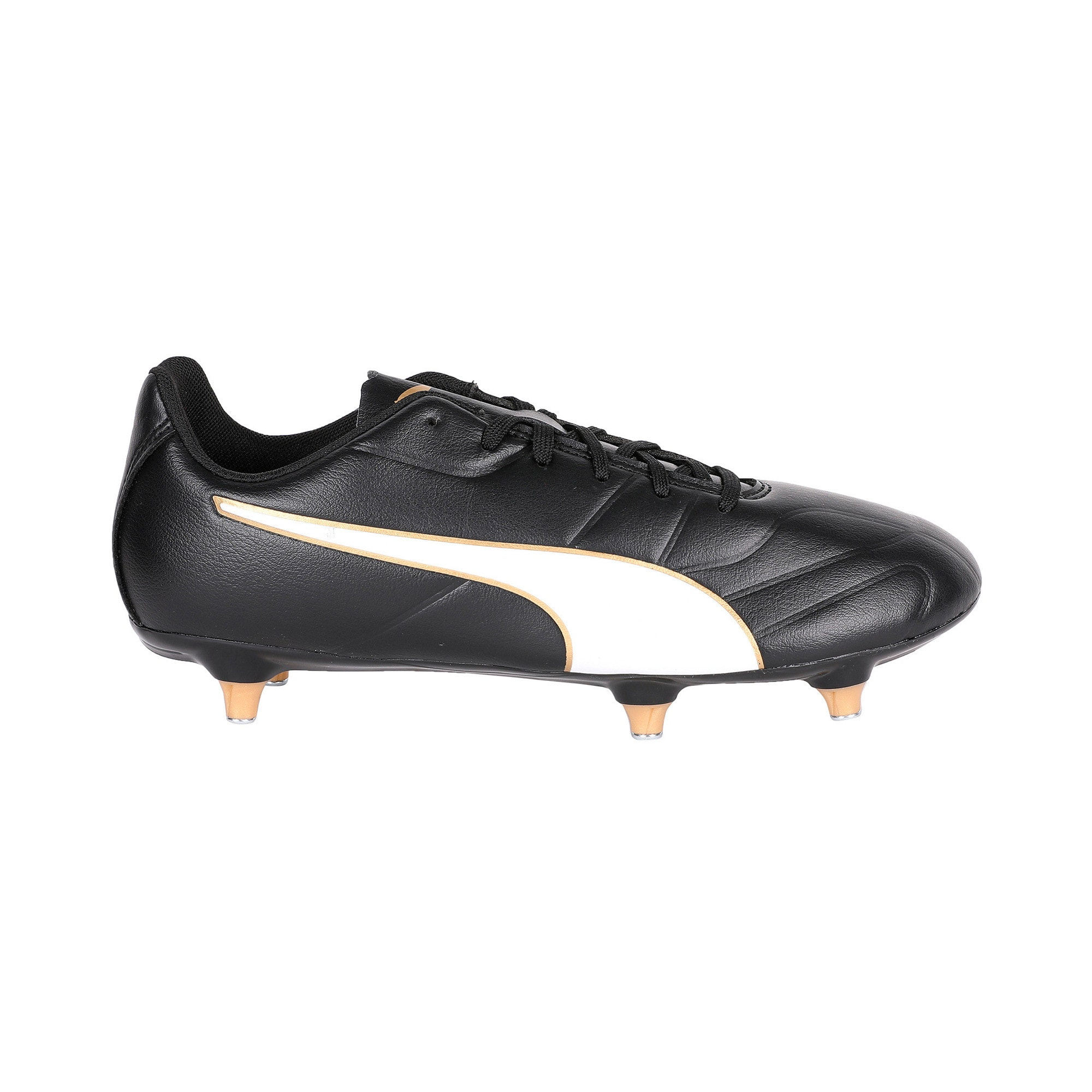 Thumbnail 5 of Classico C II SG Men's Football Boots, Black-White-Gold, medium-IND