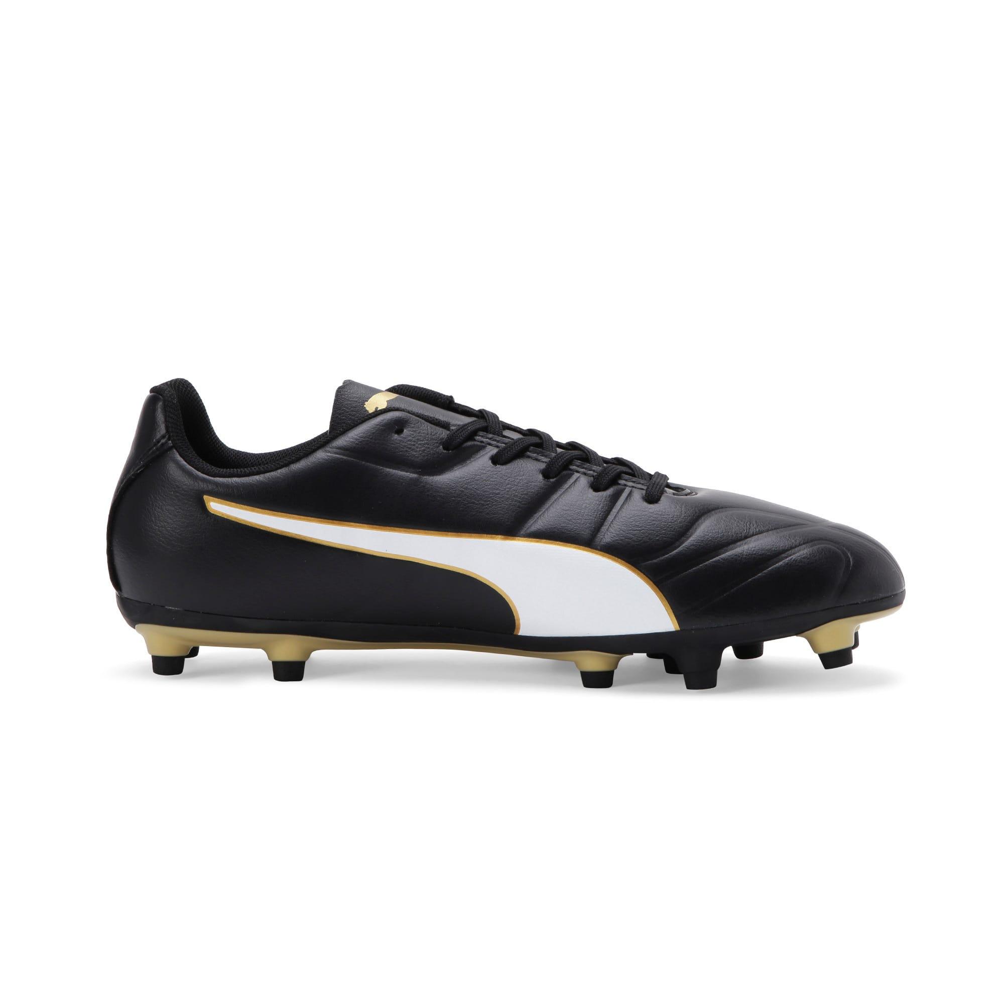 Thumbnail 5 of Classico C II FG Men's Football Boots, Black-White-Gold, medium-IND