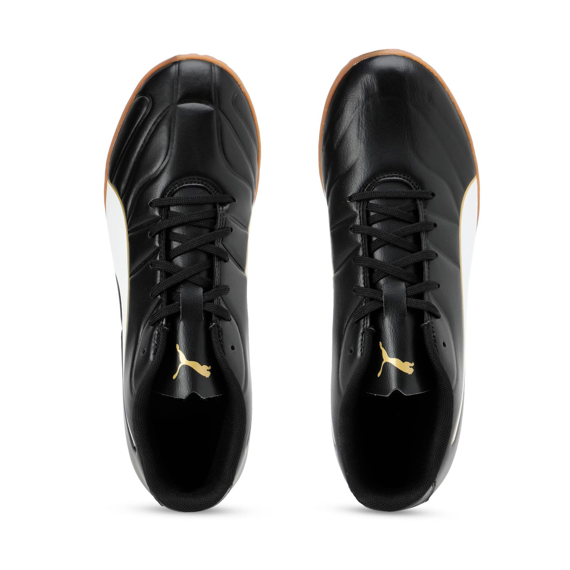Thumbnail 4 of Classico C II Men's Football Boots, Puma Black-Puma White-Gold, medium-IND