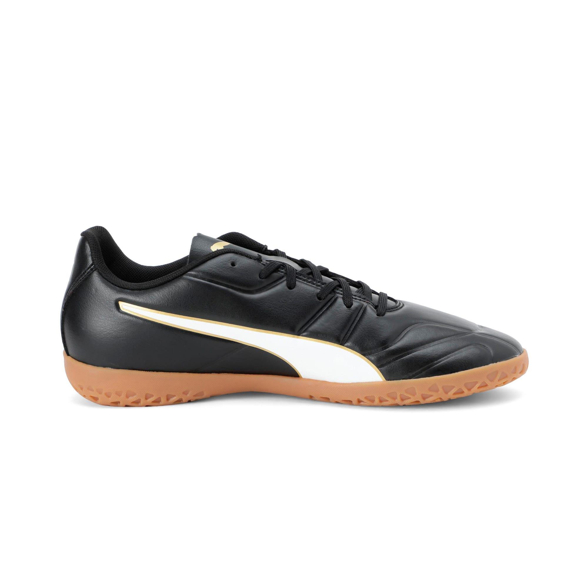 Thumbnail 5 of Classico C II Men's Football Boots, Puma Black-Puma White-Gold, medium-IND