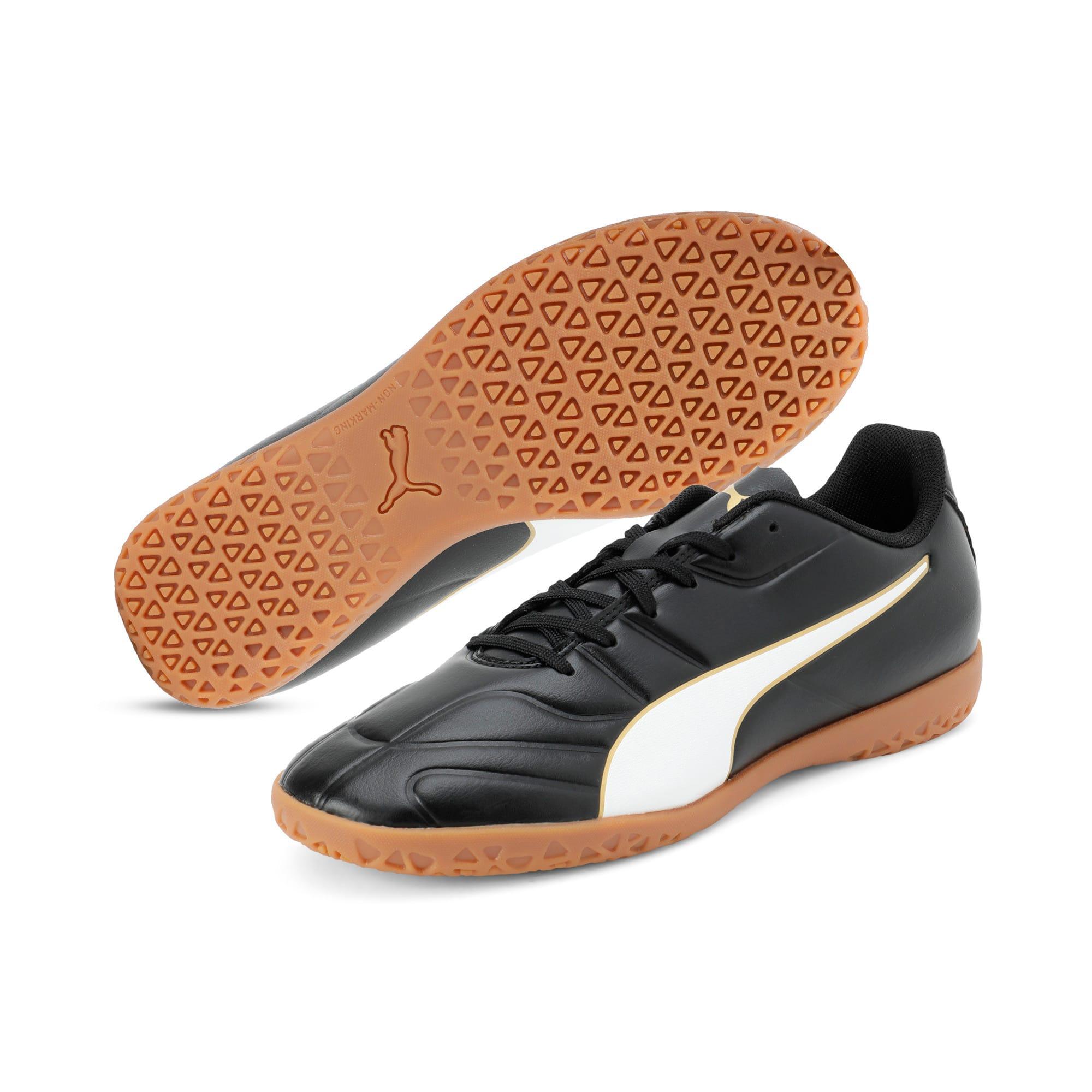 Thumbnail 6 of Classico C II Men's Football Boots, Puma Black-Puma White-Gold, medium-IND