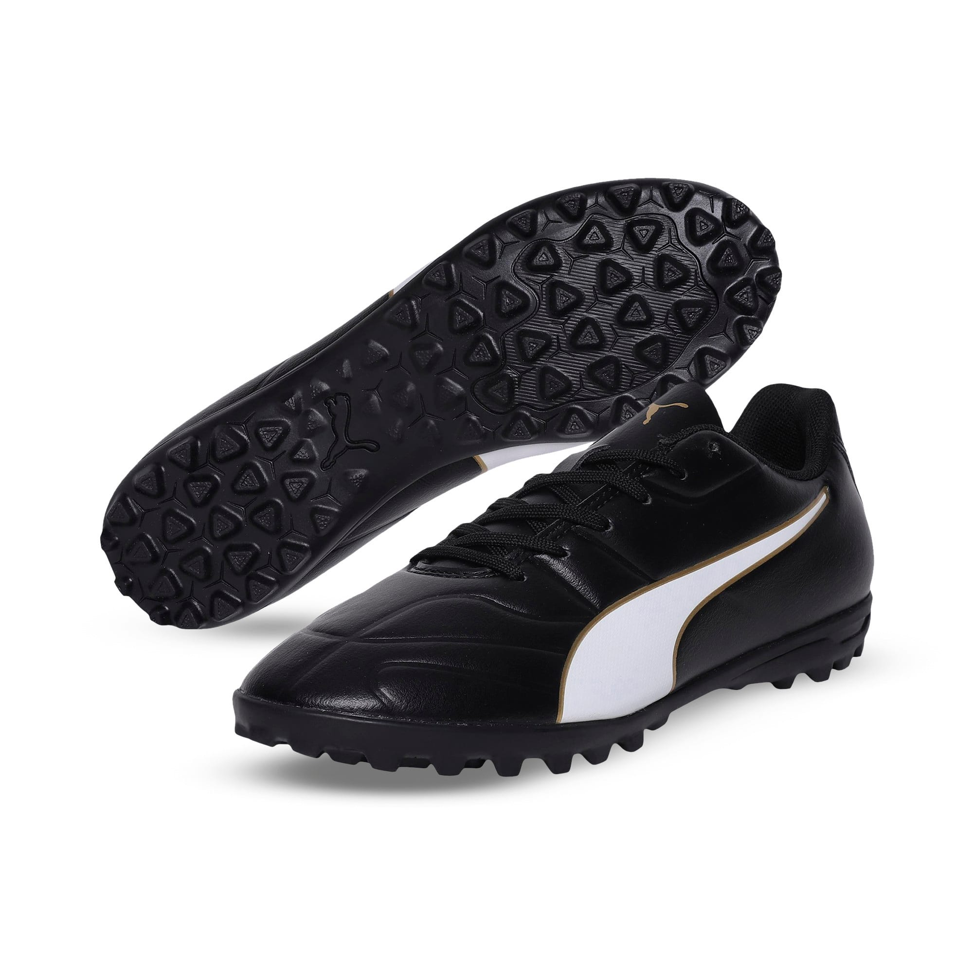 Thumbnail 2 of Classico C II TT Youth Football Boots, Black-White-Gold, medium-IND