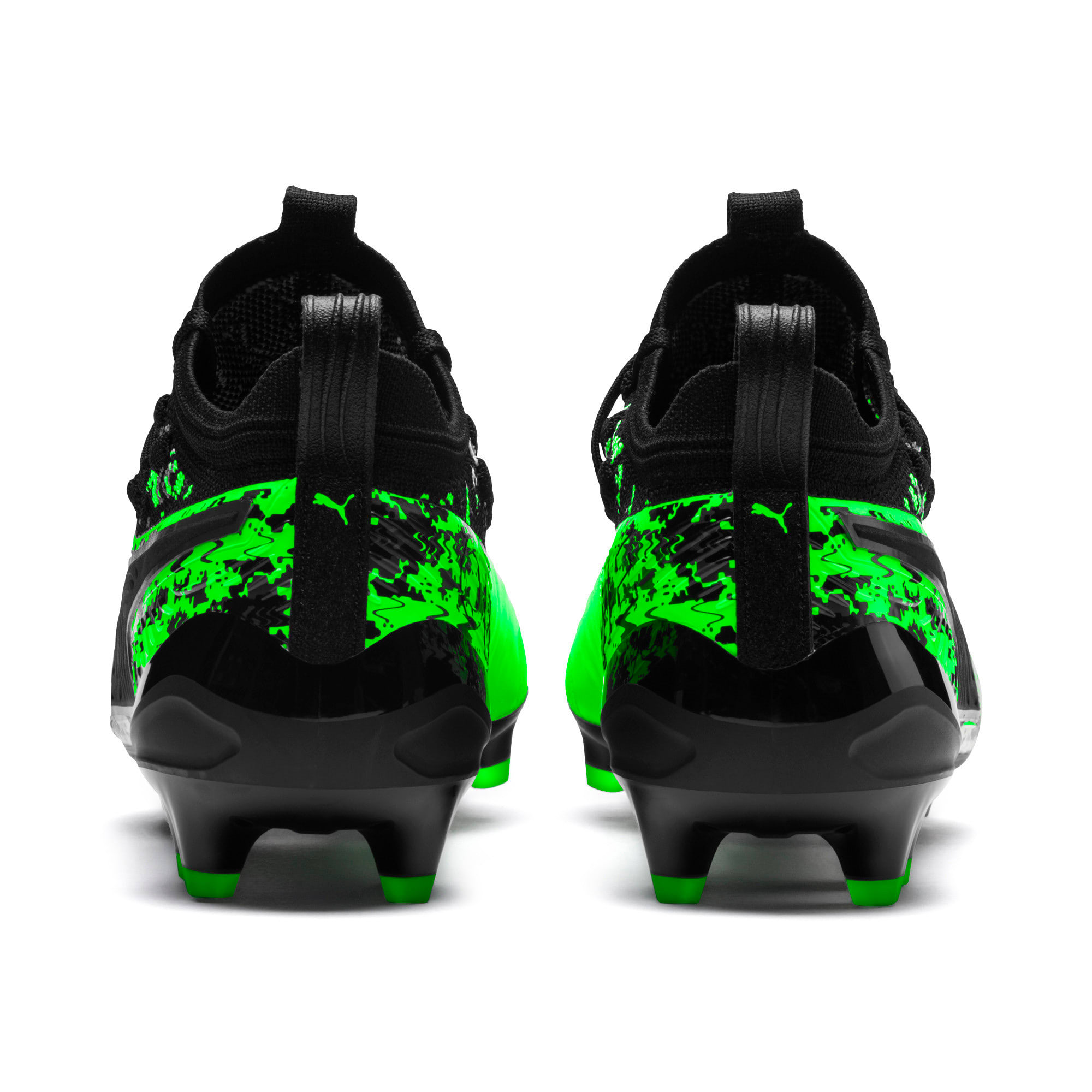 PUMA ONE 19.1 evoKNIT FG/AG Men's Football Boots, Green Gecko-Black-Gray, large