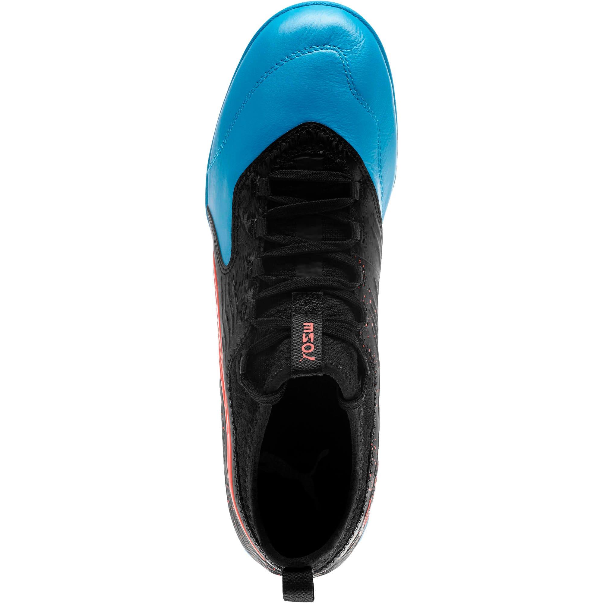 Thumbnail 5 of PUMA ONE 19.3 IT Men's Soccer Shoes, Bleu Azur-Red Blast-Black, medium