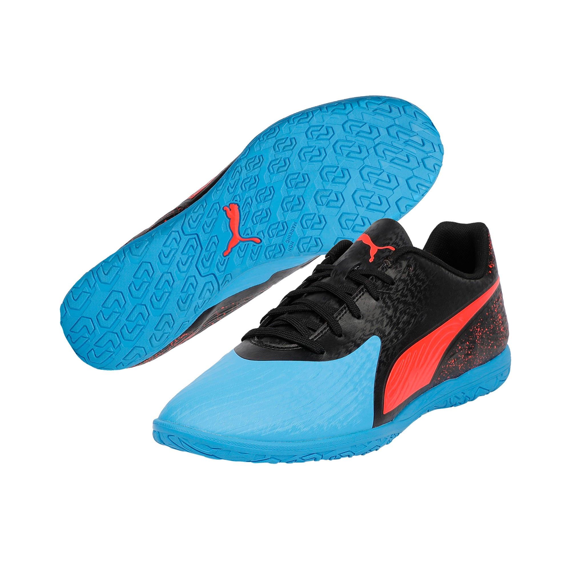 Thumbnail 4 of PUMA ONE 19.4 IT Men's Football Boots, Bleu Azur-Red Blast-Black, medium-IND