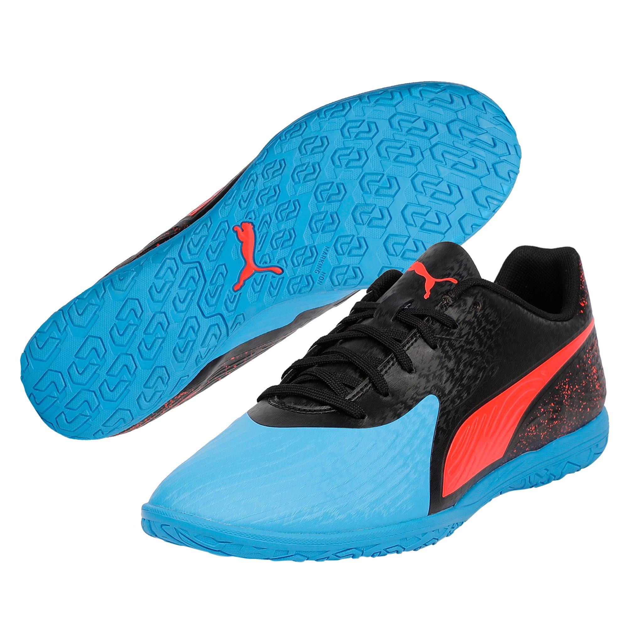 Thumbnail 8 of PUMA ONE 19.4 IT Men's Football Boots, Bleu Azur-Red Blast-Black, medium-IND