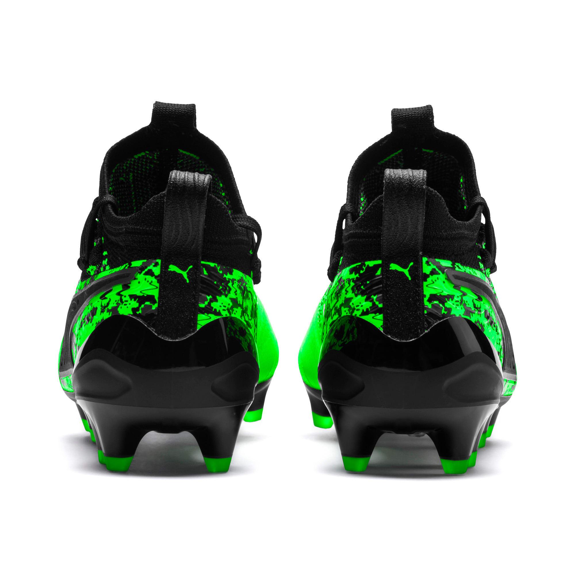 Thumbnail 3 van PUMA ONE 19.1 FG/AG voetbalschoenen voor jongeren, Green Gecko-zwart-grijs, medium