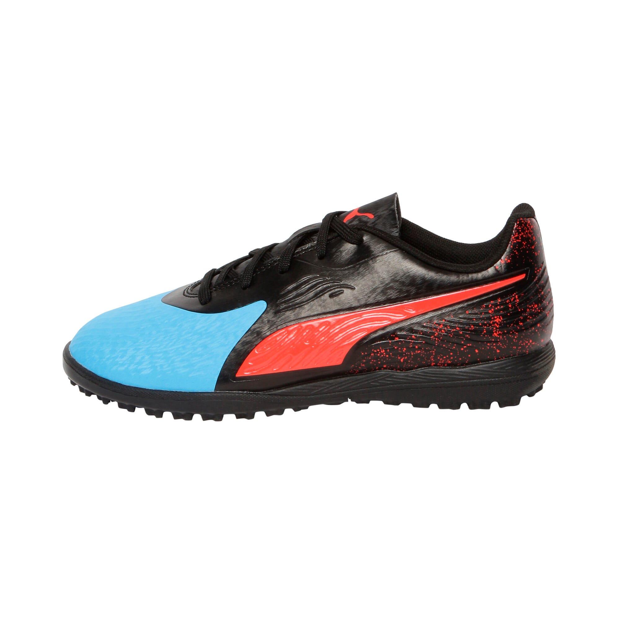 Thumbnail 1 of PUMA ONE 19.4 TT Youth Football Boots, Bleu Azur-Red Blast-Black, medium-IND