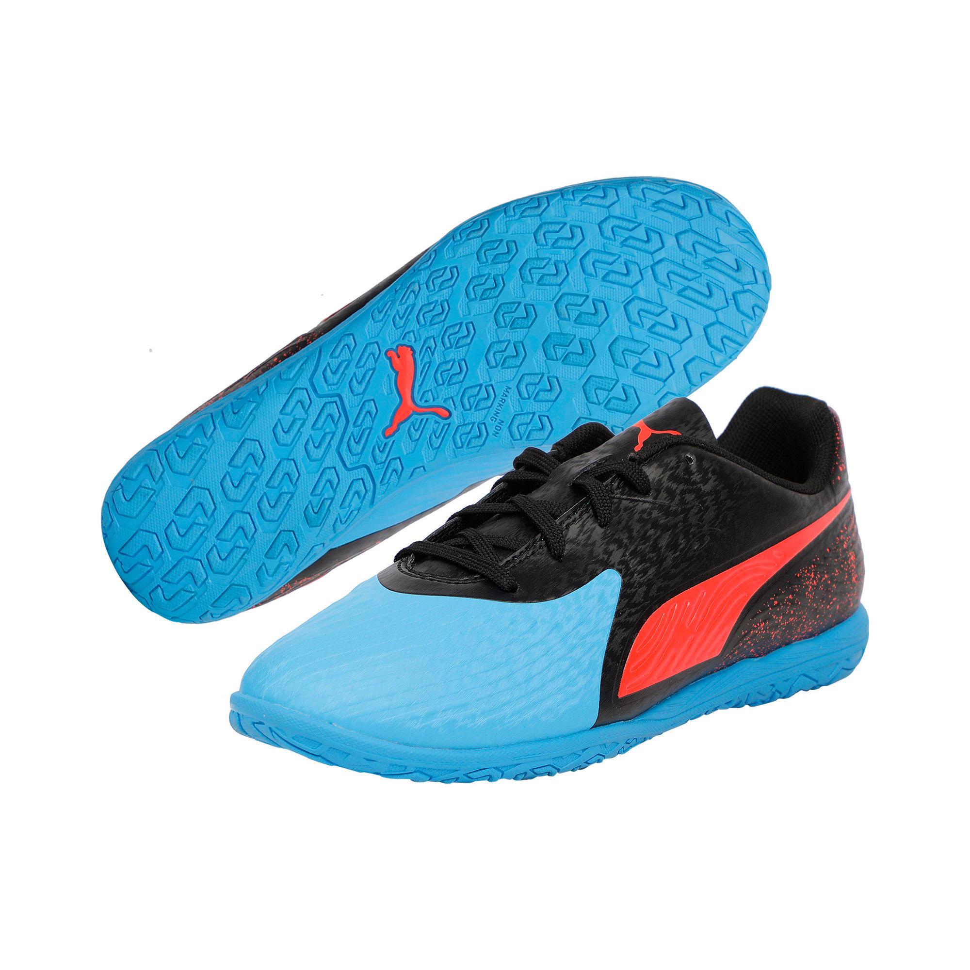 Thumbnail 2 of PUMA ONE 19.4 IT Youth Football Boots, Bleu Azur-Red Blast-Black, medium-IND