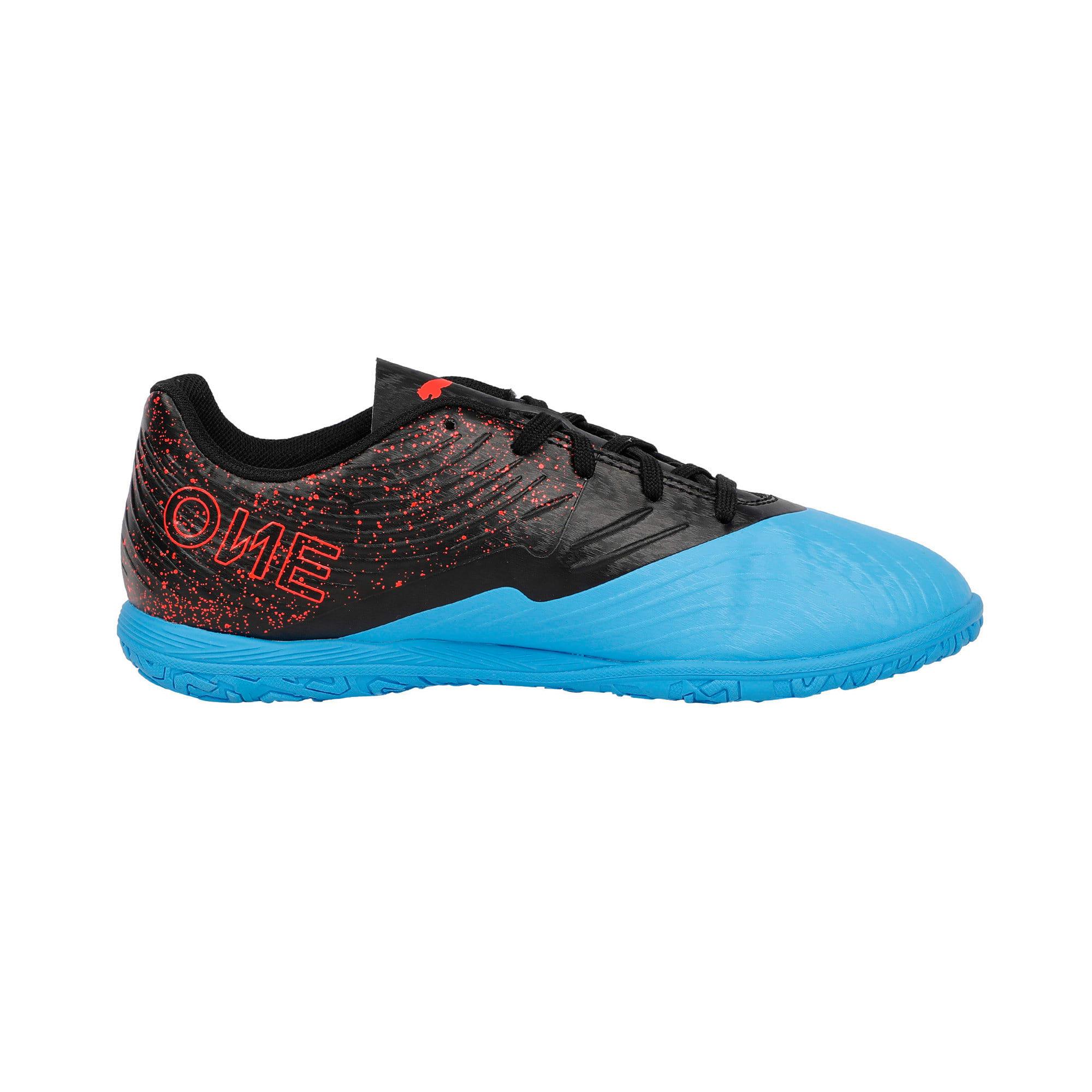 Thumbnail 5 of PUMA ONE 19.4 IT Youth Football Boots, Bleu Azur-Red Blast-Black, medium-IND