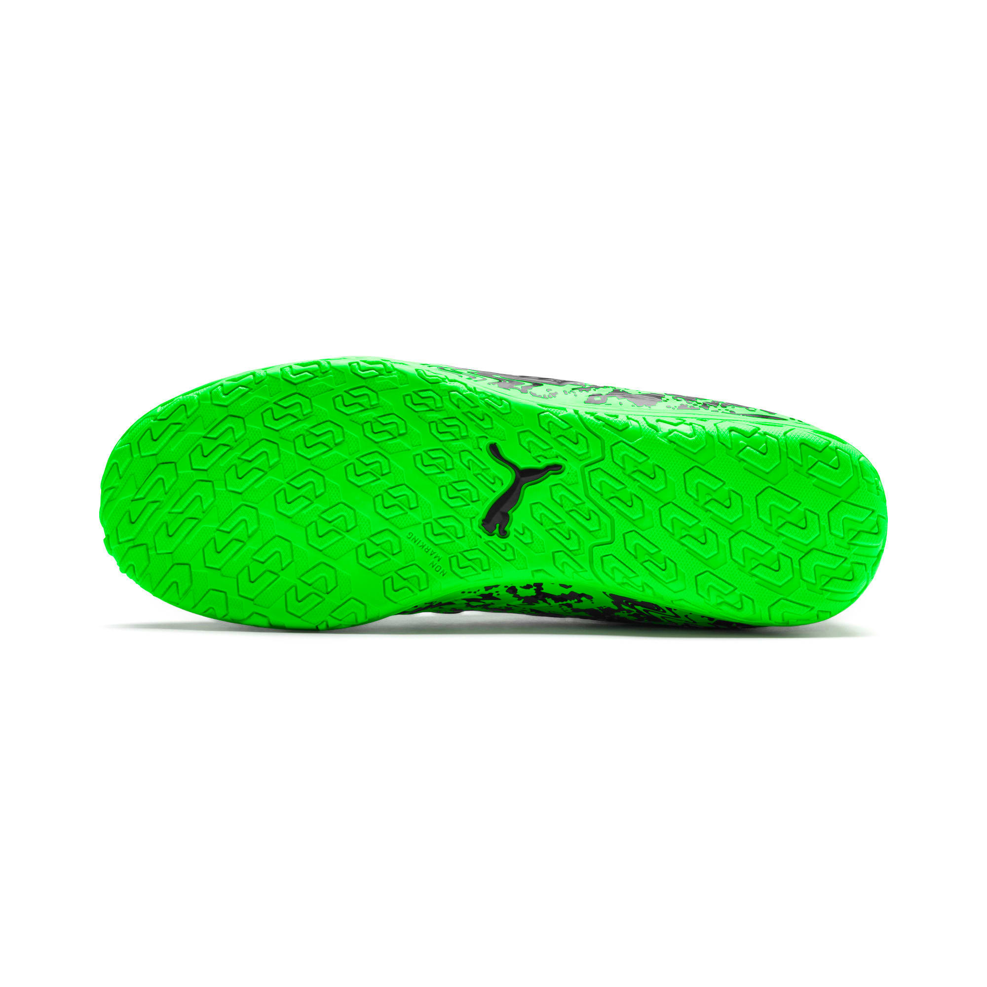 Thumbnail 4 of PUMA ONE 19.4 IT Soccer Shoes JR, Green Gecko-Black-Gray, medium