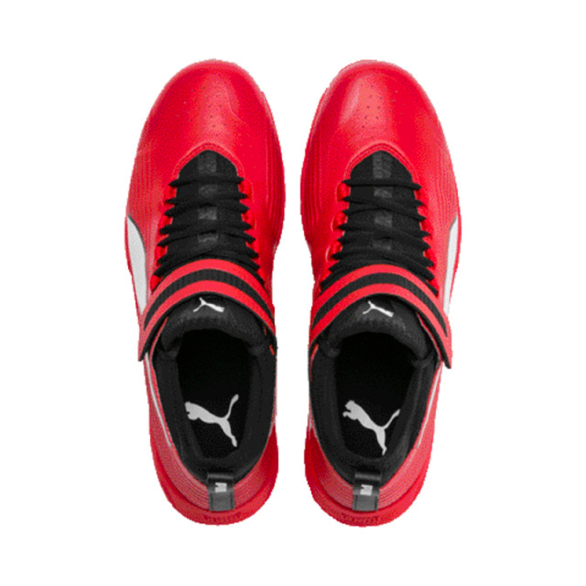 Thumbnail 2 of PUMA 19.1 Bowling Men's Cricket Shoes, High Risk Red-Black-White, medium-IND