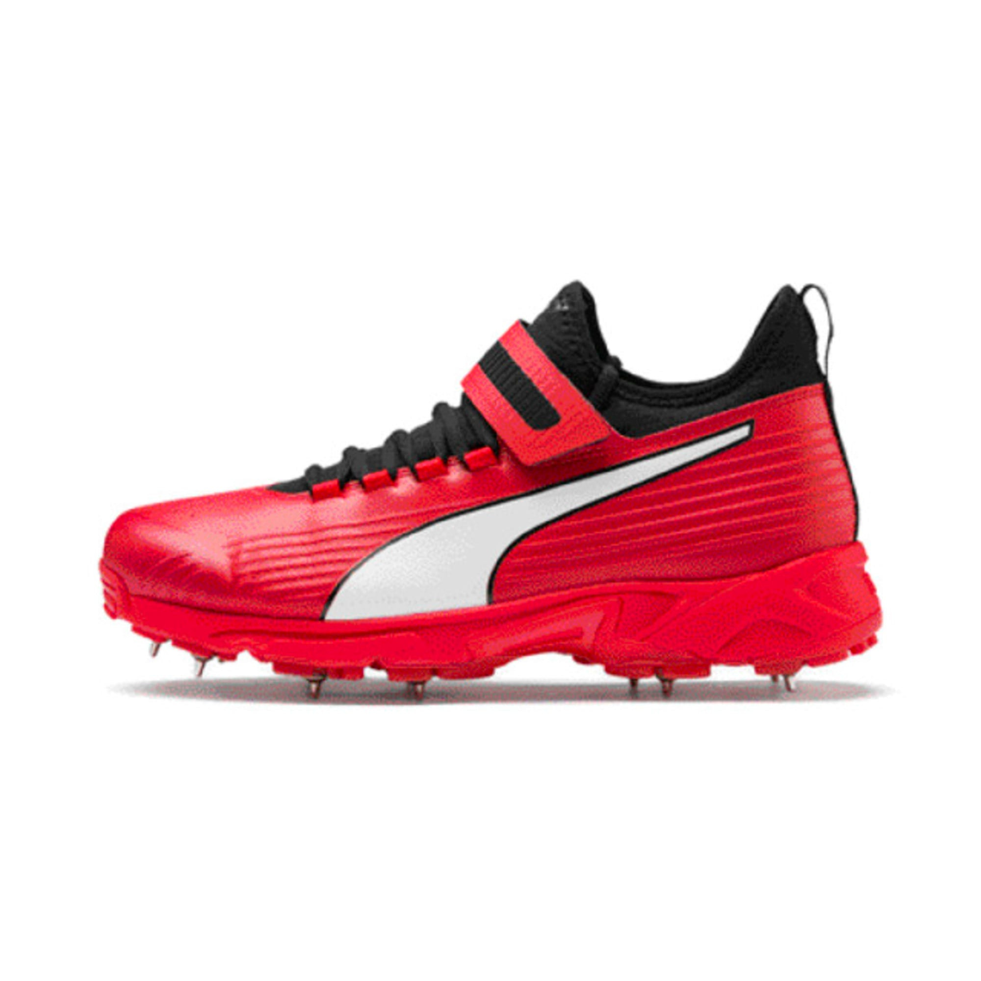 Thumbnail 1 of PUMA 19.1 Bowling Men's Cricket Shoes, High Risk Red-Black-White, medium-IND