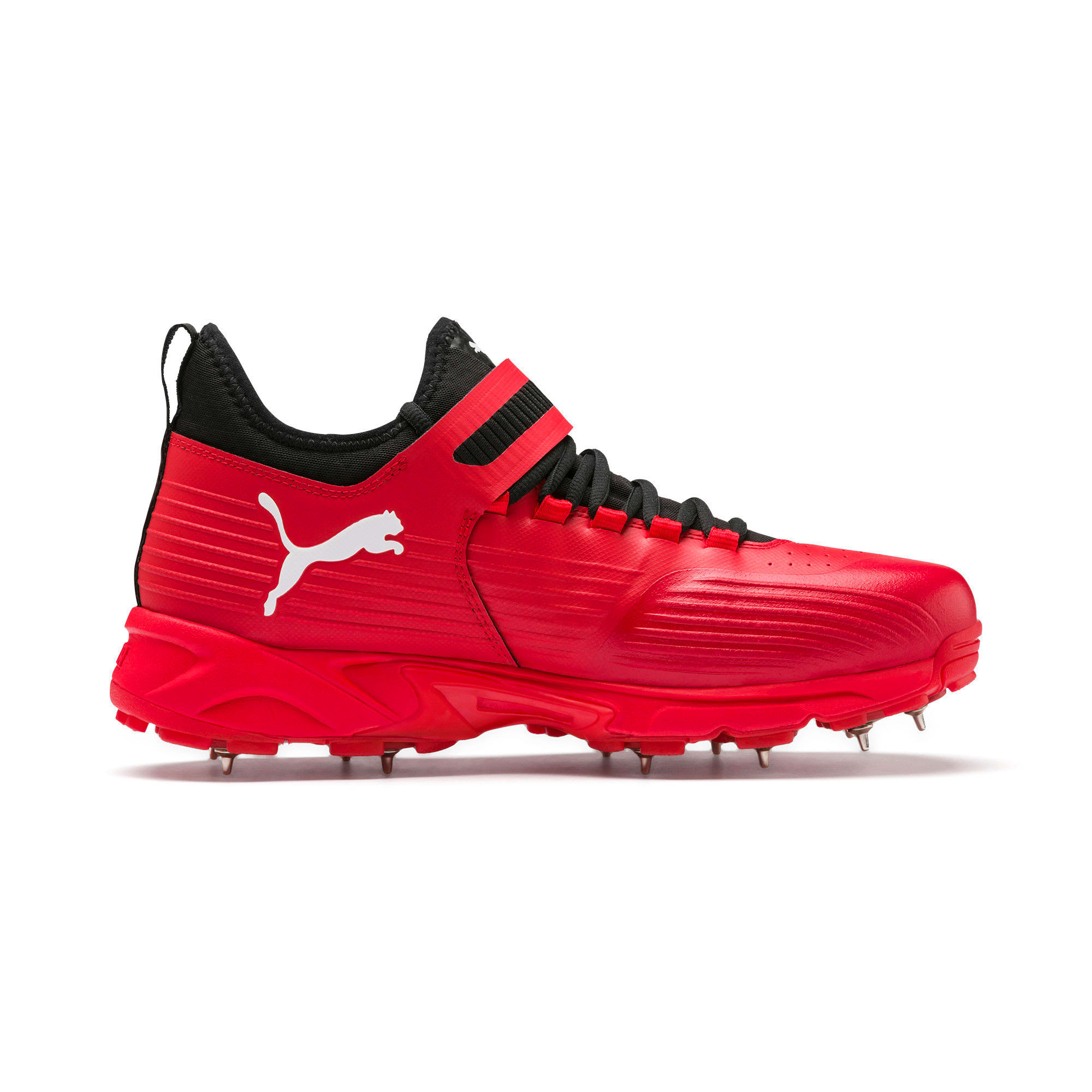 Thumbnail 5 of PUMA 19.1 Bowling Men's Cricket Shoes, High Risk Red-Black-White, medium-IND