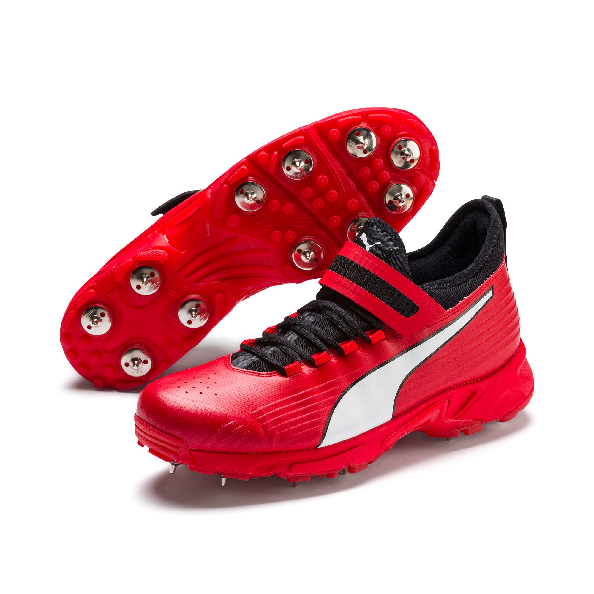 Thumbnail 6 of PUMA 19.1 Bowling Men's Cricket Shoes, High Risk Red-Black-White, medium-IND