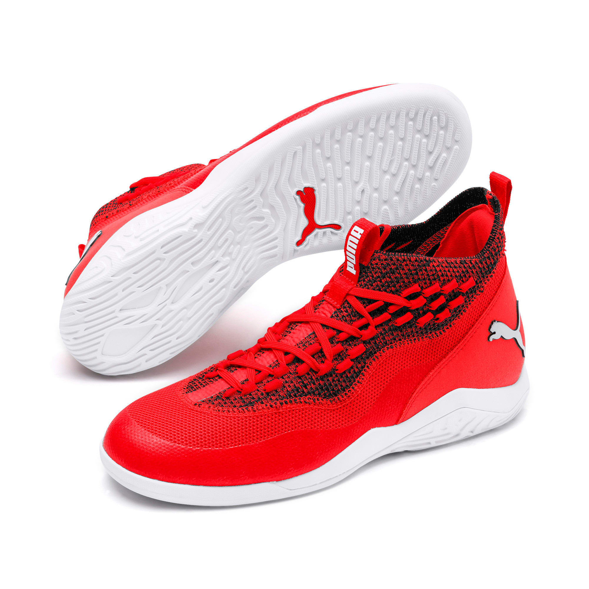 Thumbnail 2 of 365 IGNITE Fuse P 1 Men's Soccer Shoes, Red Blast-White-Puma Black, medium