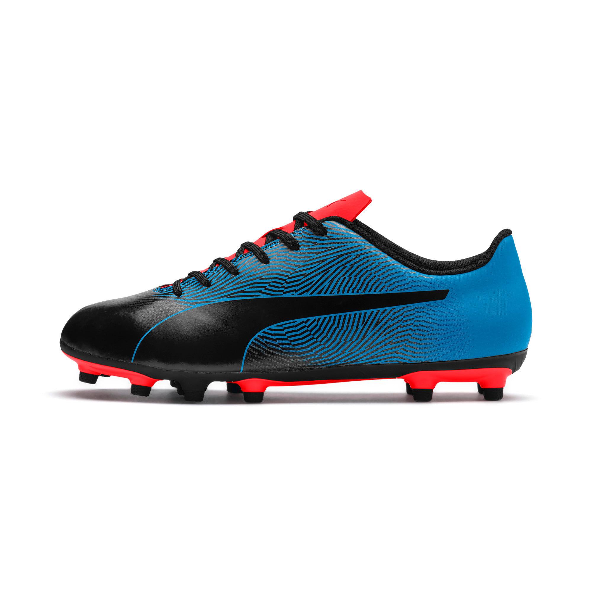 Miniatura 1 de Botines de fútbol PUMA Spirit II FG para hombre, Black-Bleu Azur-Red Blast, mediano