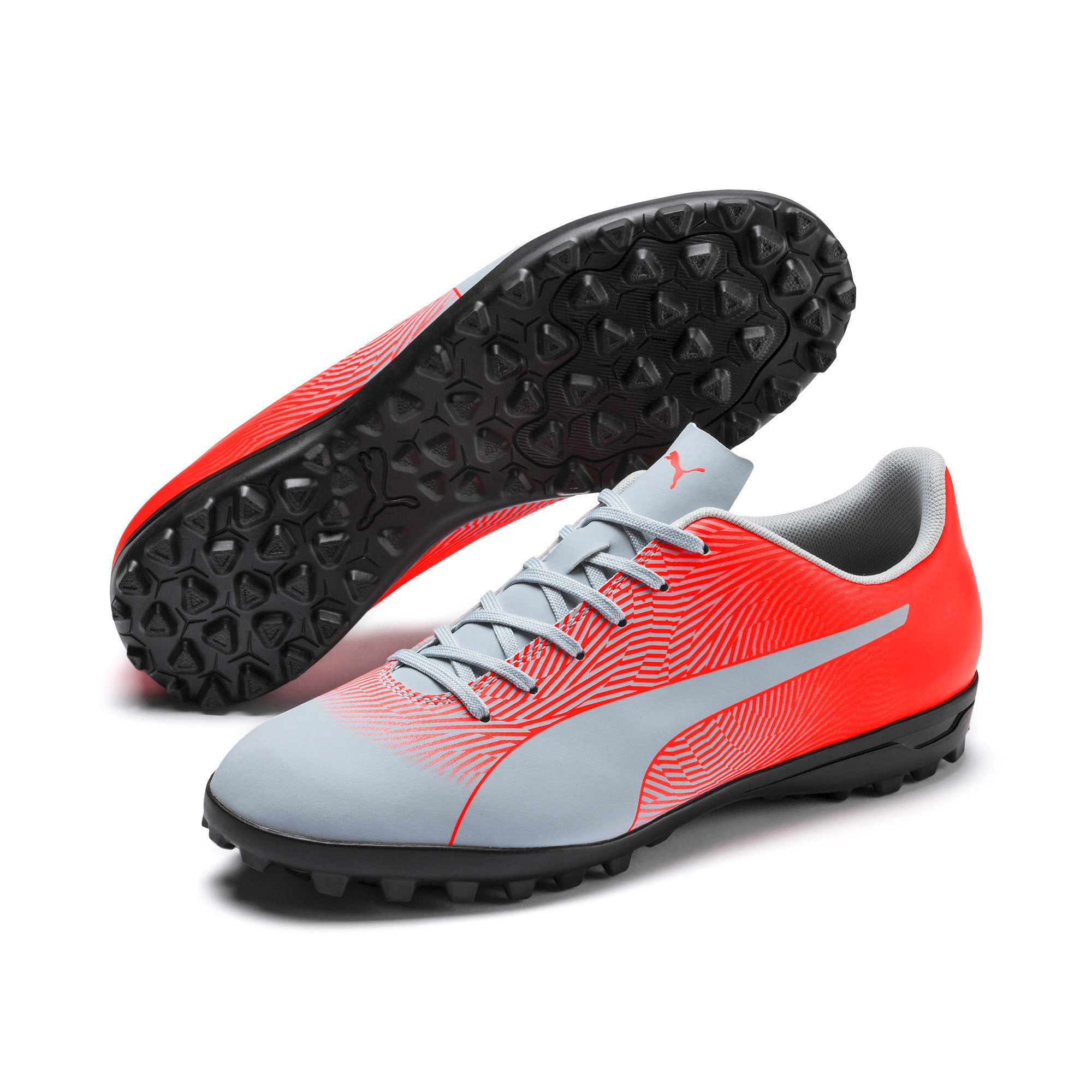 Thumbnail 2 of PUMA Spirit II TT Men's Soccer Shoes, Glacial Blue-Nrgy Red, medium
