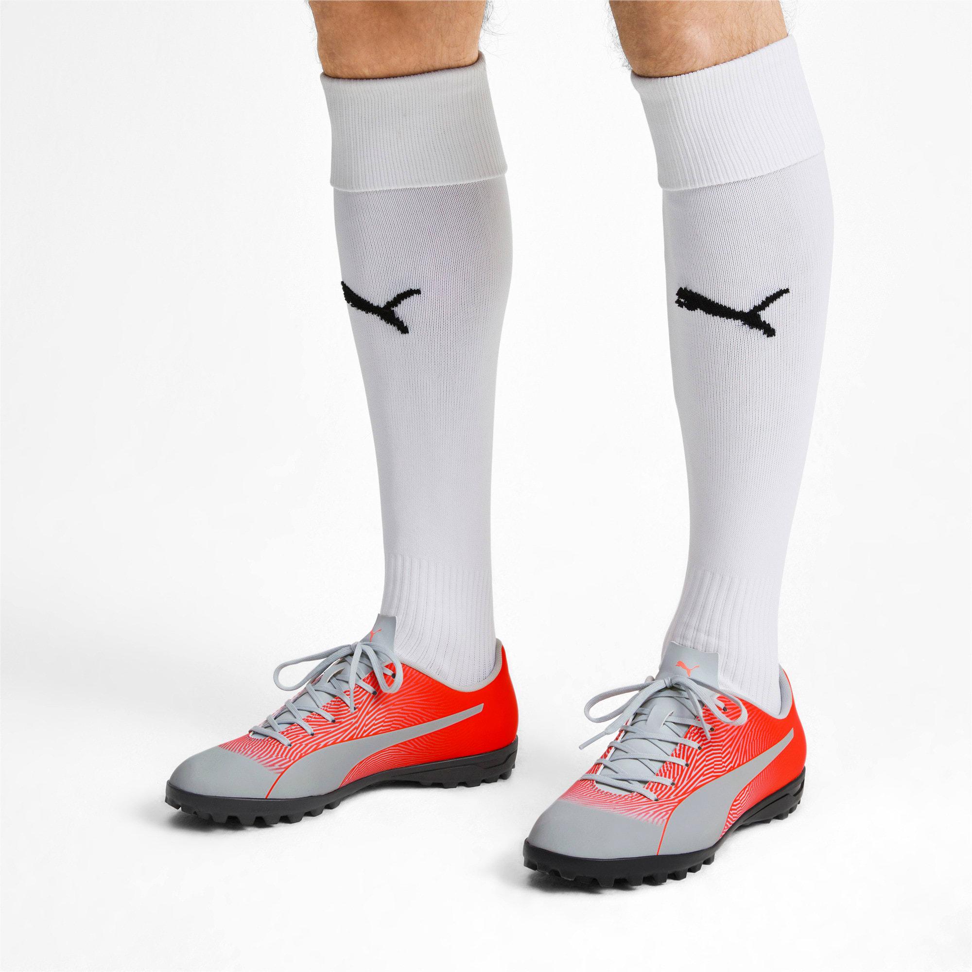 Thumbnail 3 of PUMA Spirit II TT Men's Soccer Shoes, Glacial Blue-Nrgy Red, medium