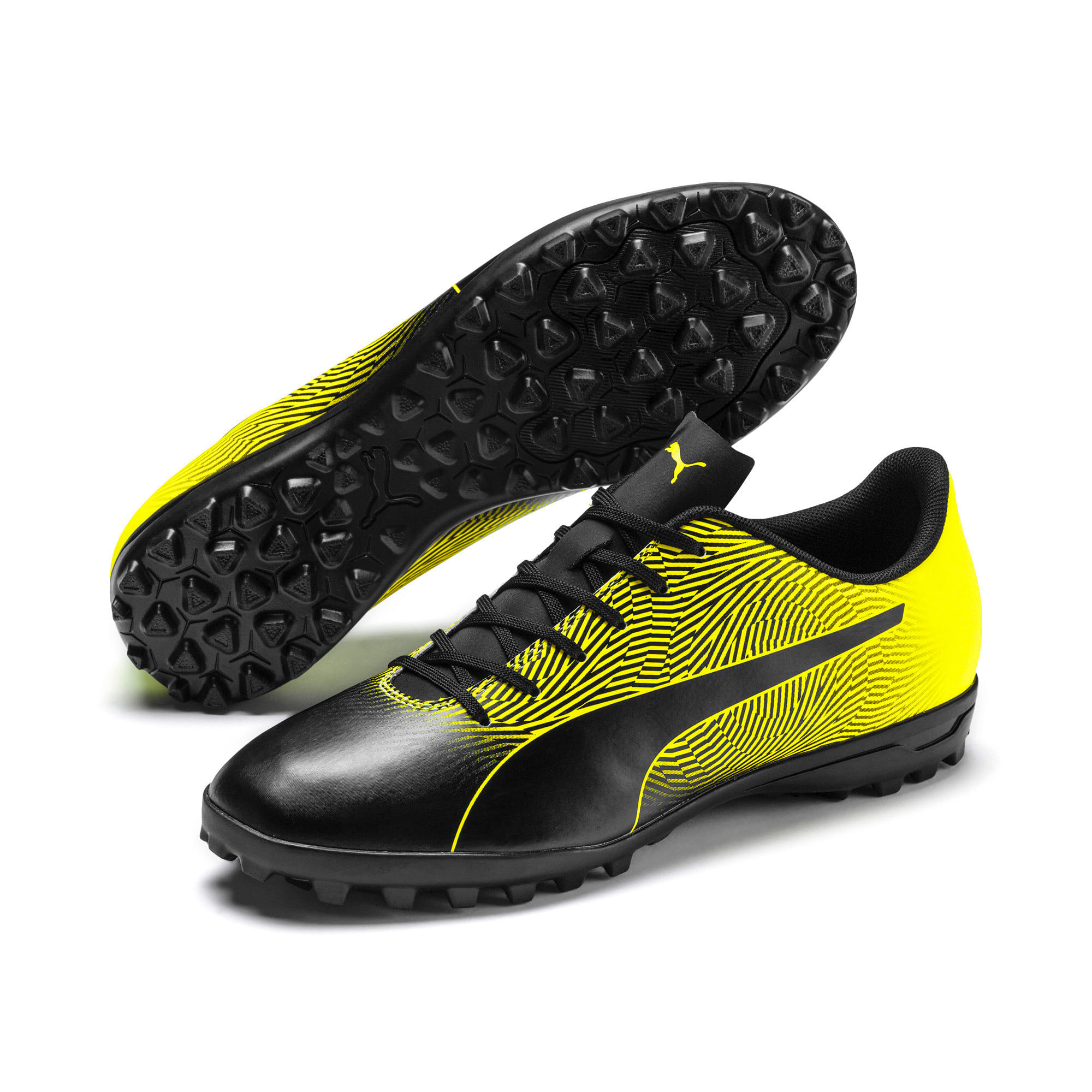 Thumbnail 3 of PUMA Spirit II TT Men's Soccer Shoes, Puma Black-Yellow Alert, medium