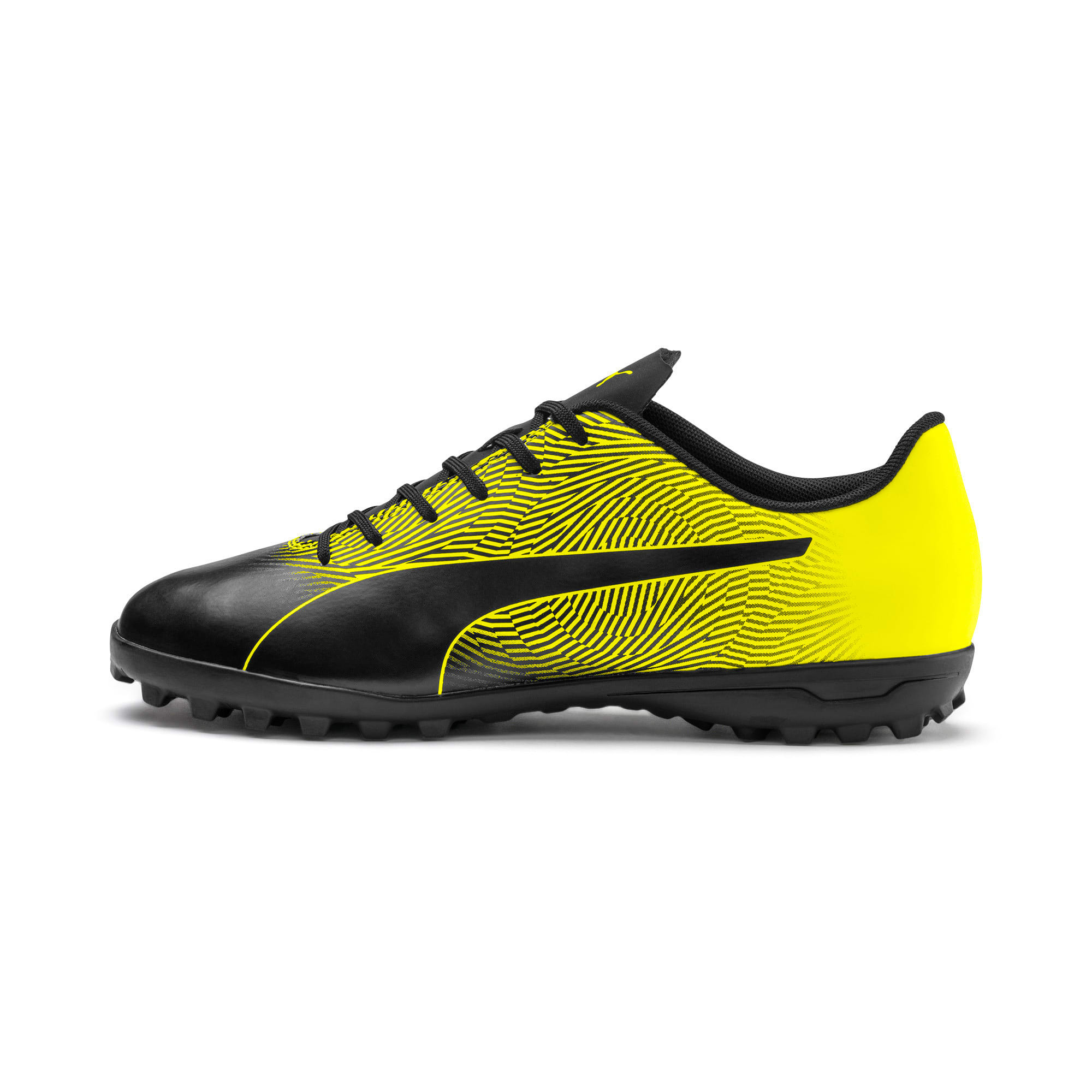 Thumbnail 1 of PUMA Spirit II TT Men's Soccer Shoes, Puma Black-Yellow Alert, medium
