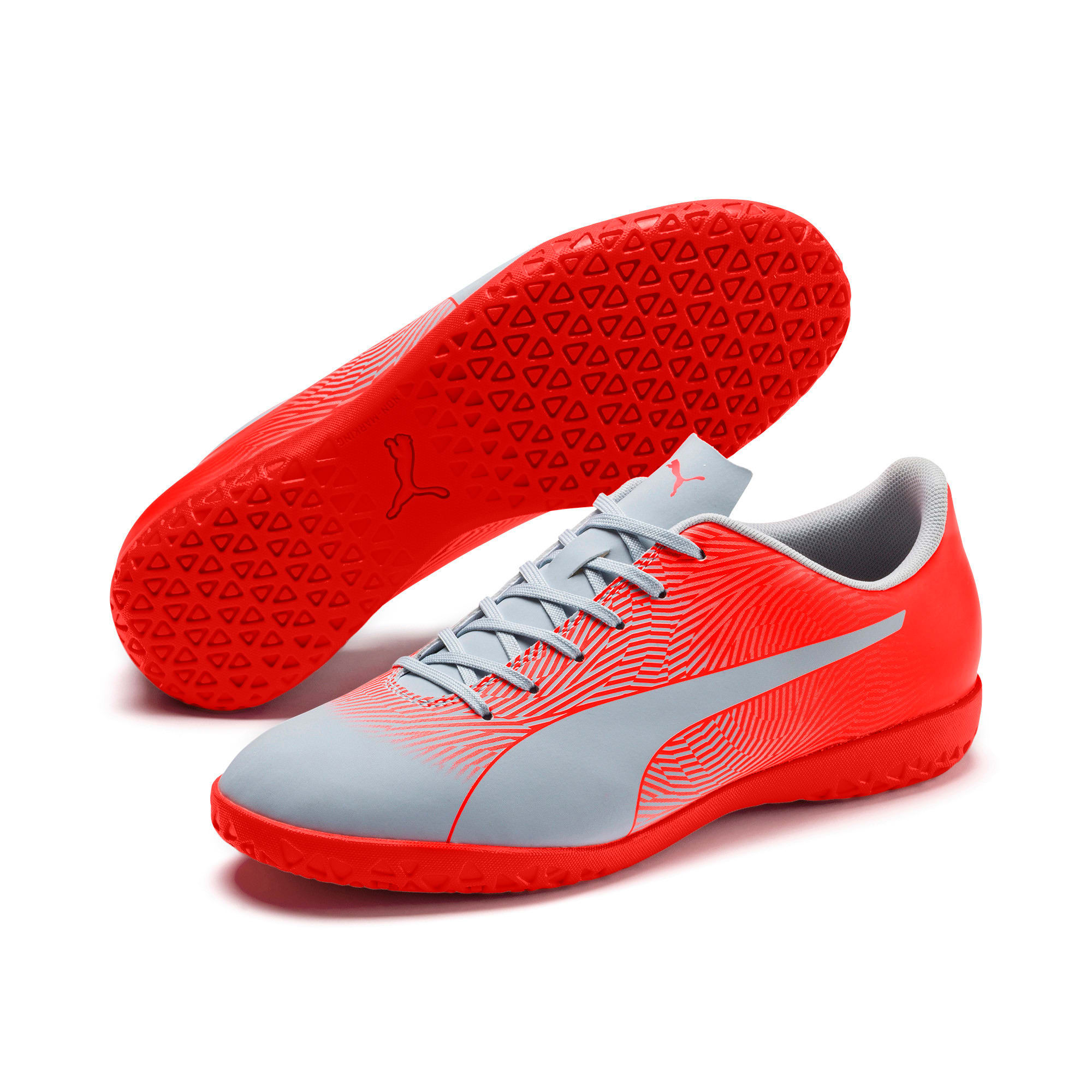 Thumbnail 2 of PUMA Spirit II IT Men's Soccer Shoes, Glacial Blue-Nrgy Red, medium