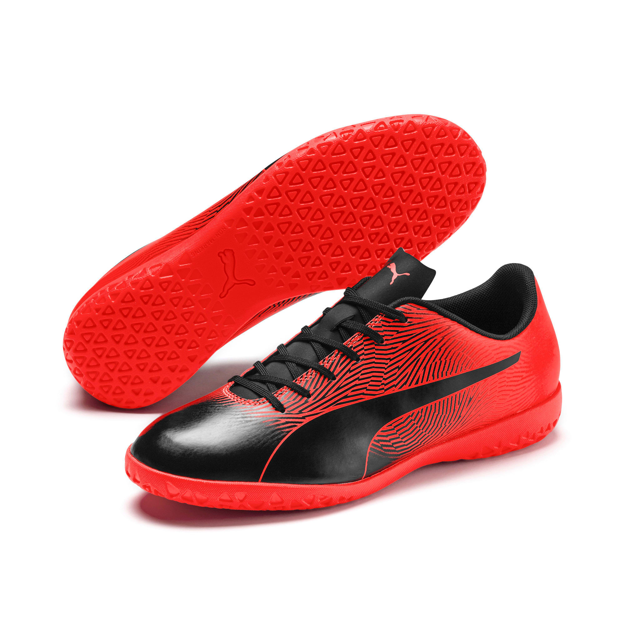 Thumbnail 2 of PUMA Spirit II IT Men's Soccer Shoes, Puma Black-Nrgy Red, medium