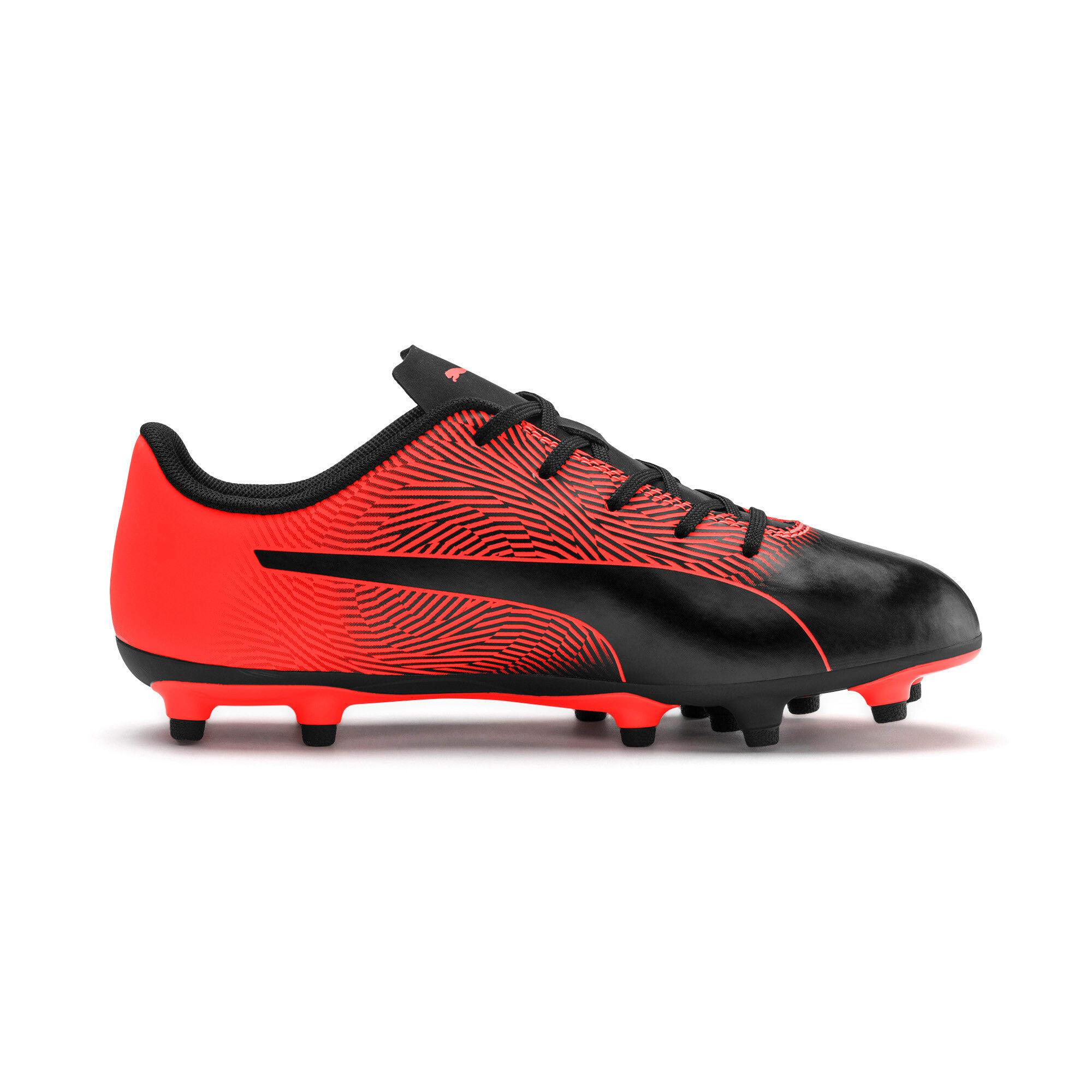 Thumbnail 3 of PUMA Spirit II FG Youth Football Boots, Puma Black-Nrgy Red, medium-IND