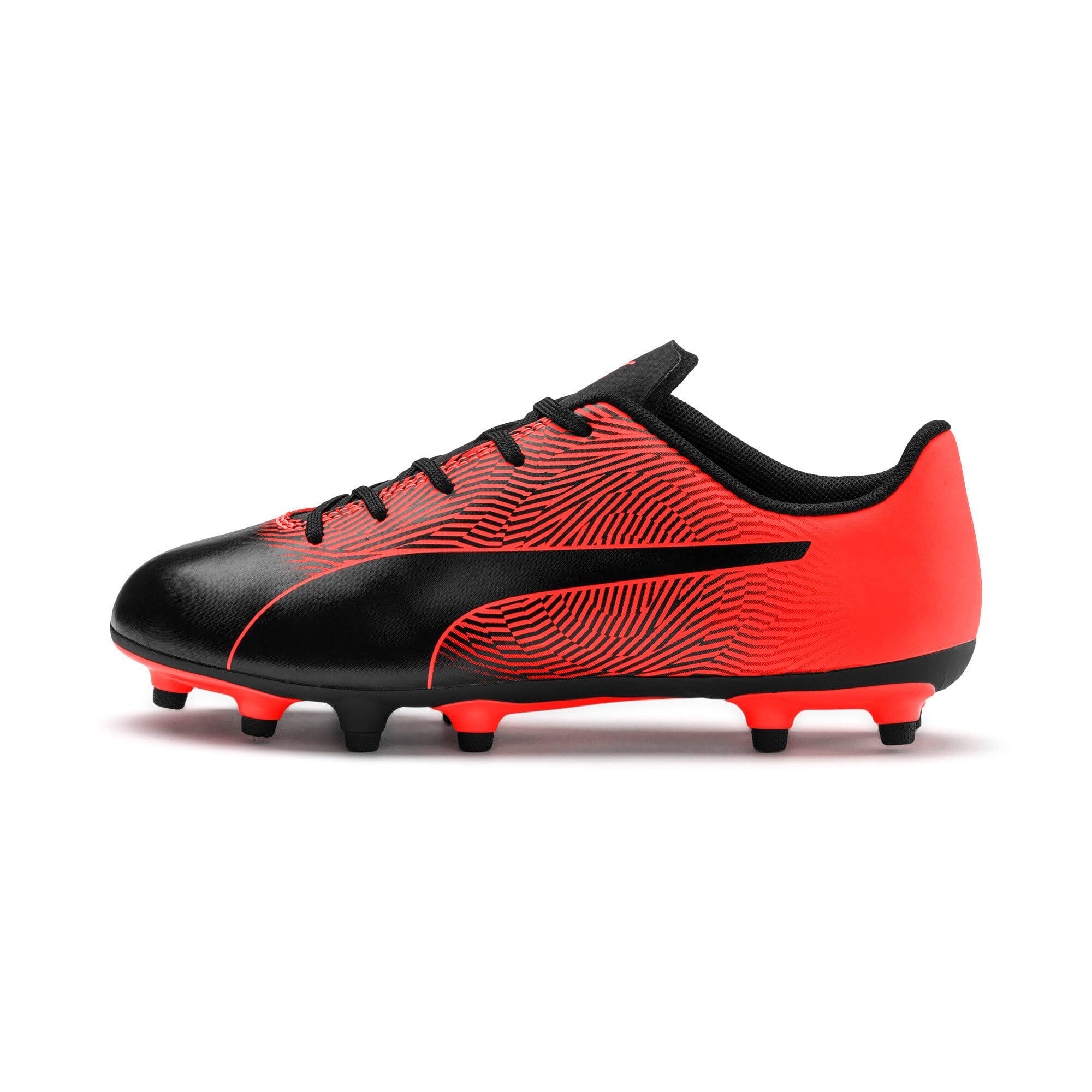 Thumbnail 1 of PUMA Spirit II FG Youth Football Boots, Puma Black-Nrgy Red, medium-IND