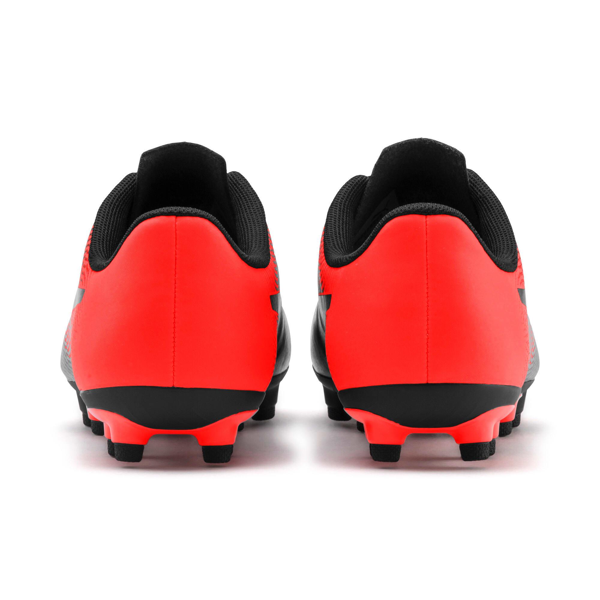 Thumbnail 4 of PUMA Spirit II FG Youth Football Boots, Puma Black-Nrgy Red, medium-IND