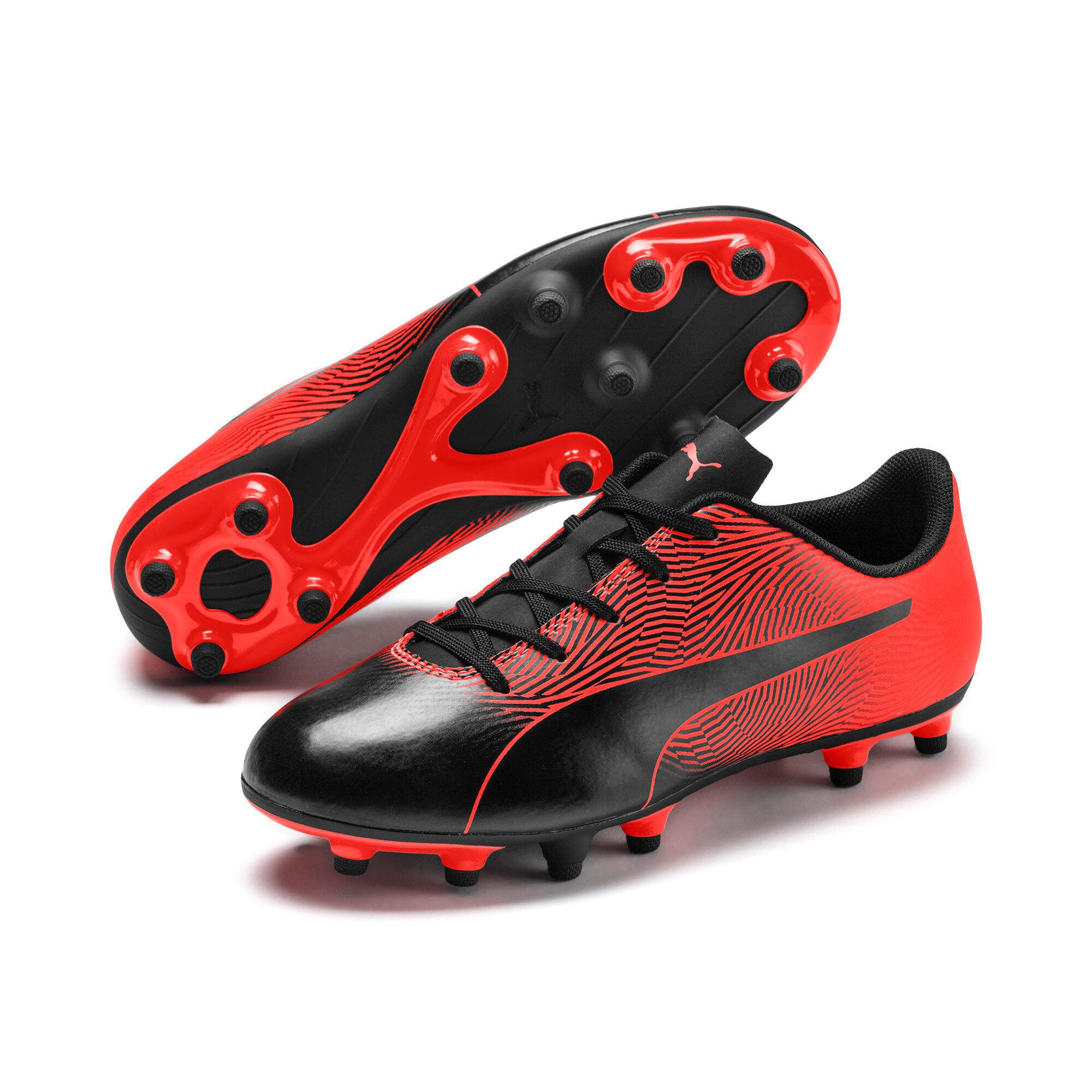 Thumbnail 6 of PUMA Spirit II FG Youth Football Boots, Puma Black-Nrgy Red, medium-IND
