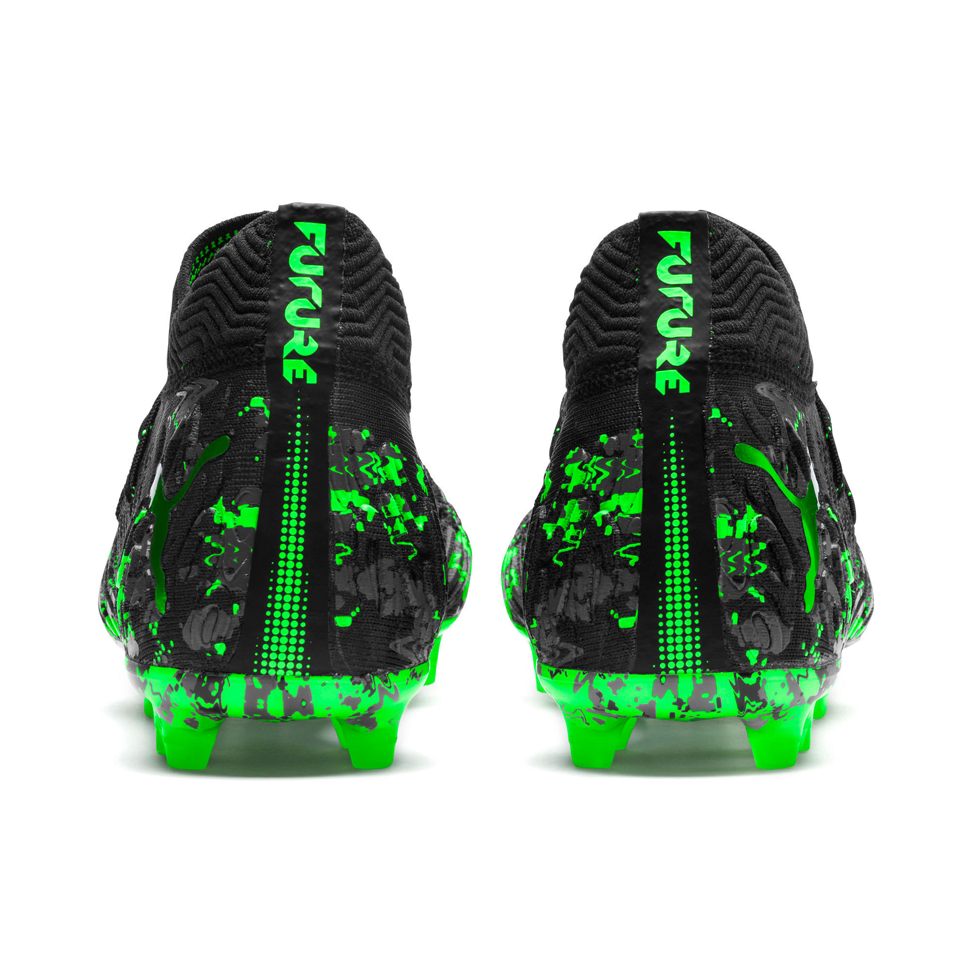 Thumbnail 5 of FUTURE 19.1 NETFIT FG/AG Men's Soccer Cleats, Black-Gray-Green Gecko, medium
