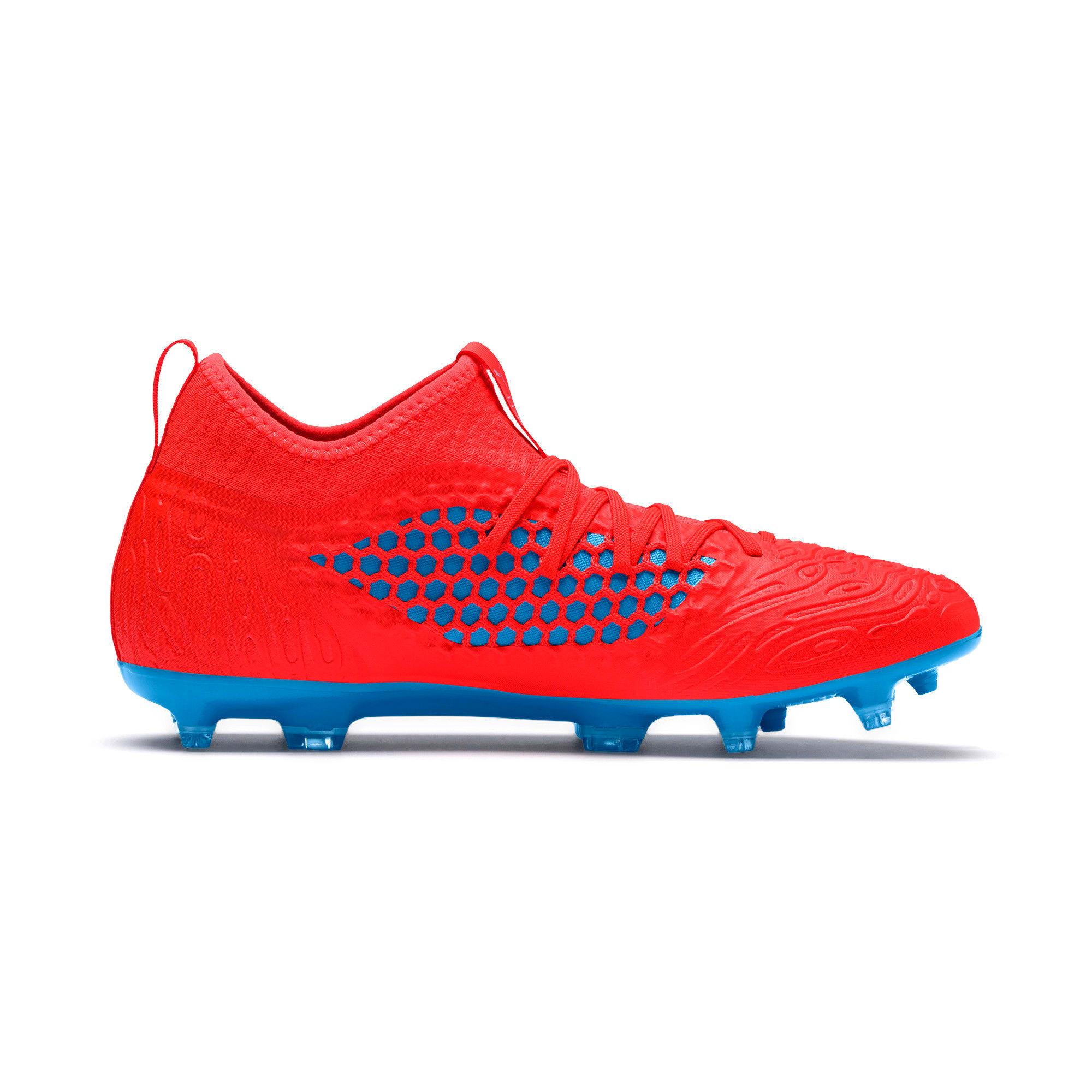 Thumbnail 5 of FUTURE 19.3 NETFIT FG/AG Men's Football Boots, Red Blast-Bleu Azur, medium-IND