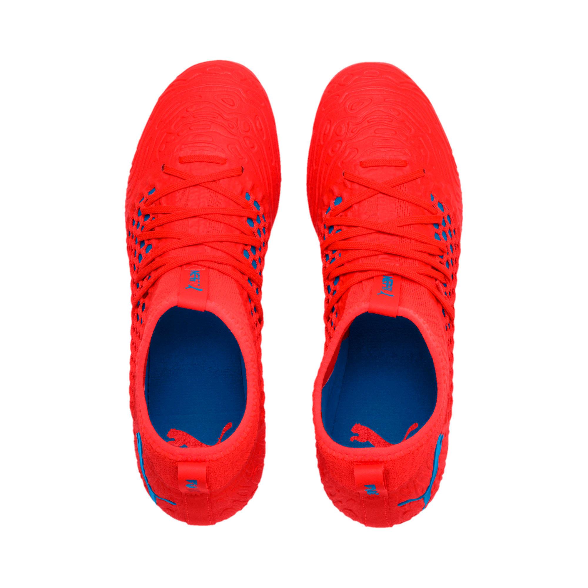 Thumbnail 6 of FUTURE 19.3 NETFIT FG/AG Men's Football Boots, Red Blast-Bleu Azur, medium-IND