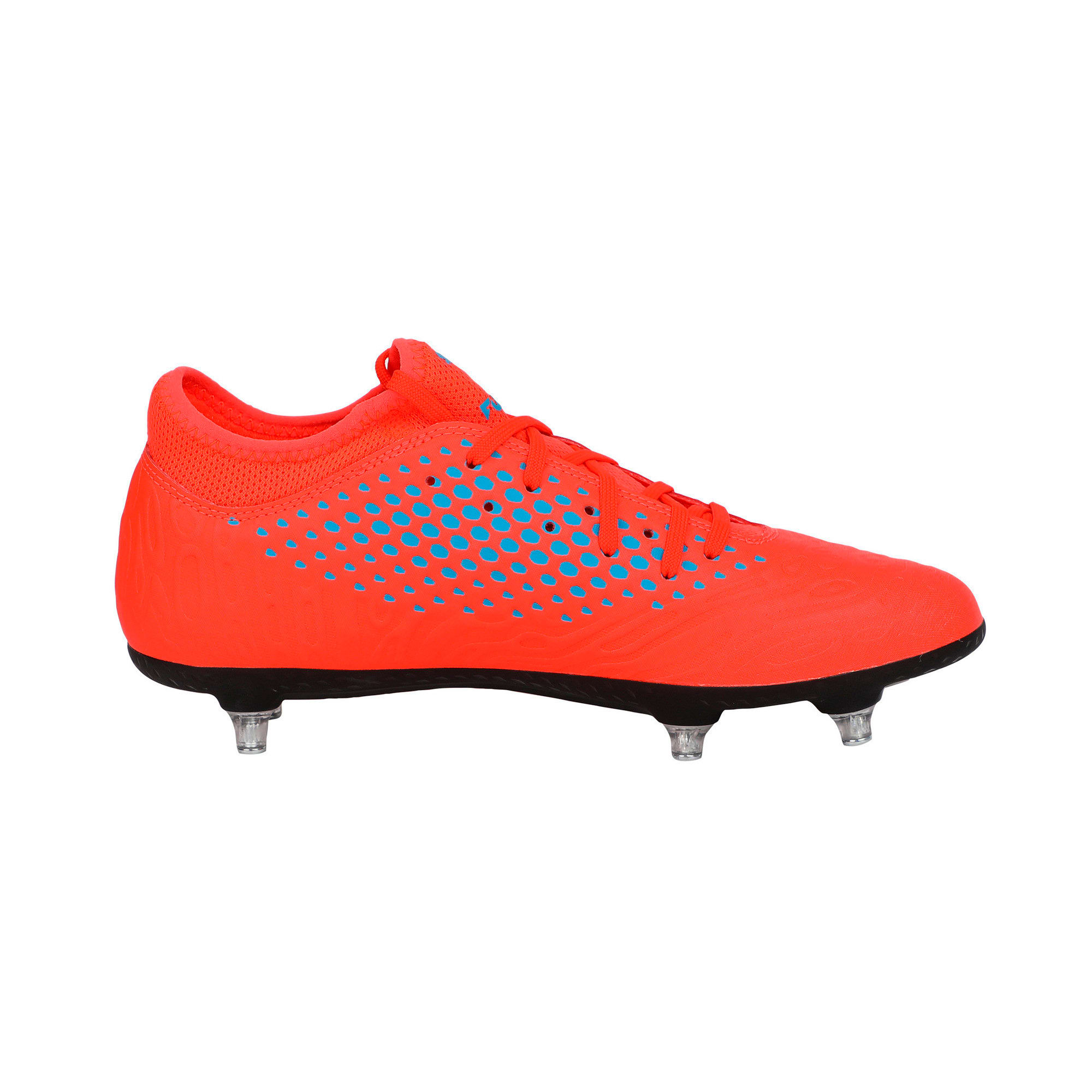 Thumbnail 5 of FUTURE 19.4 SG Men's Football Boots, Red Blast-Bleu Azur, medium-IND