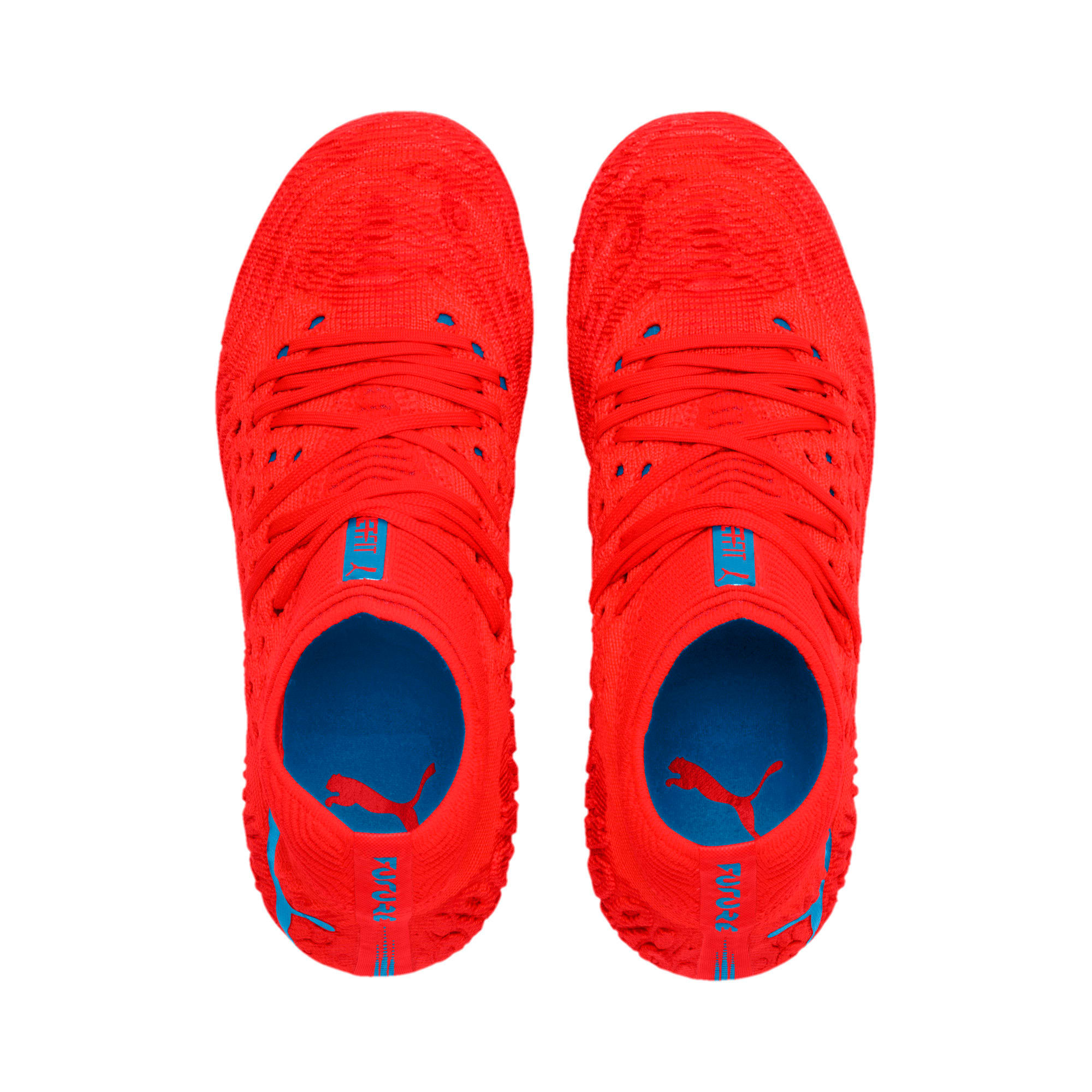 Thumbnail 6 of FUTURE 19.1 NETFIT FG/AG Soccer Cleats JR, Red Blast-Bleu Azur, medium