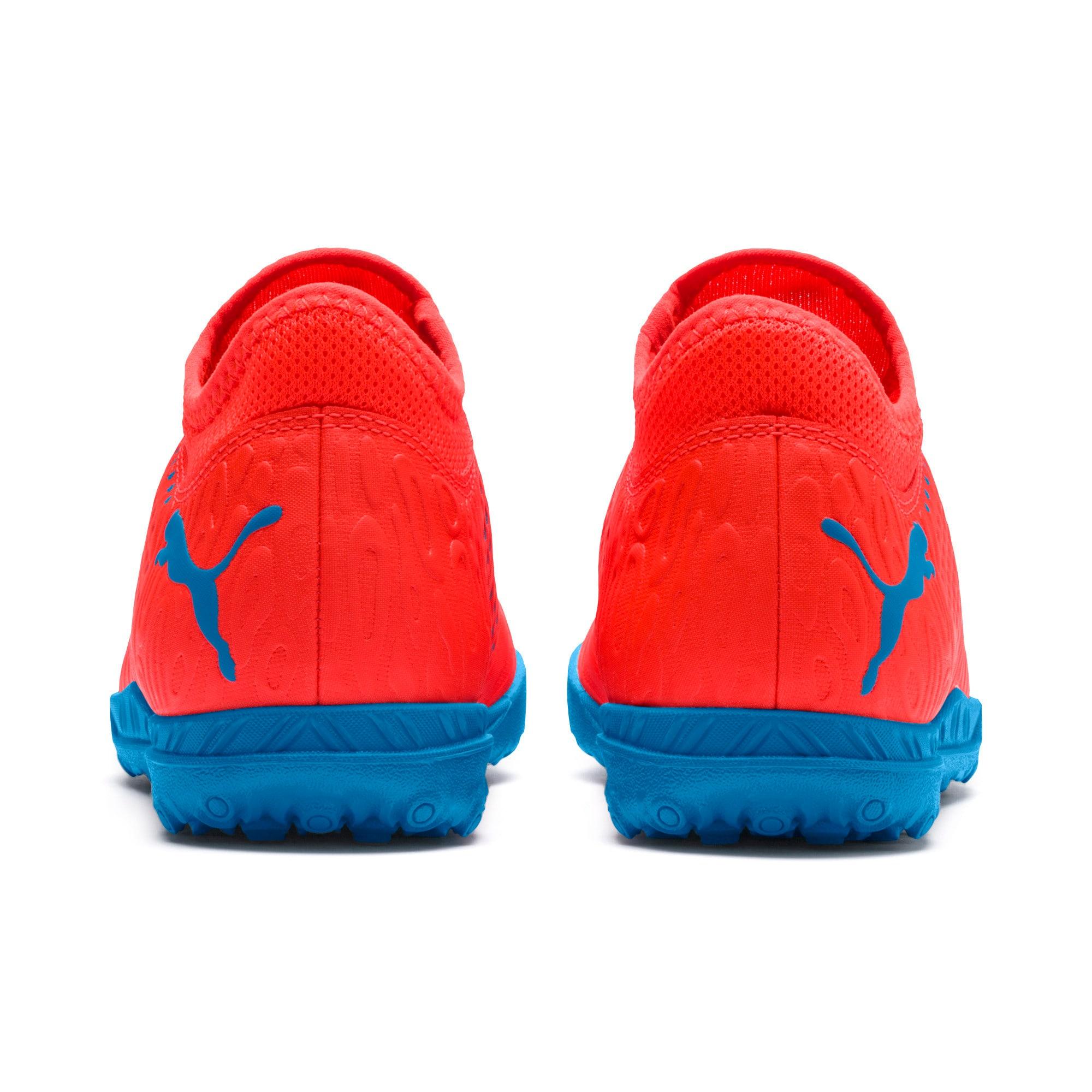 Thumbnail 3 of FUTURE 19.4 TT Soccer Shoes JR, Red Blast-Bleu Azur, medium
