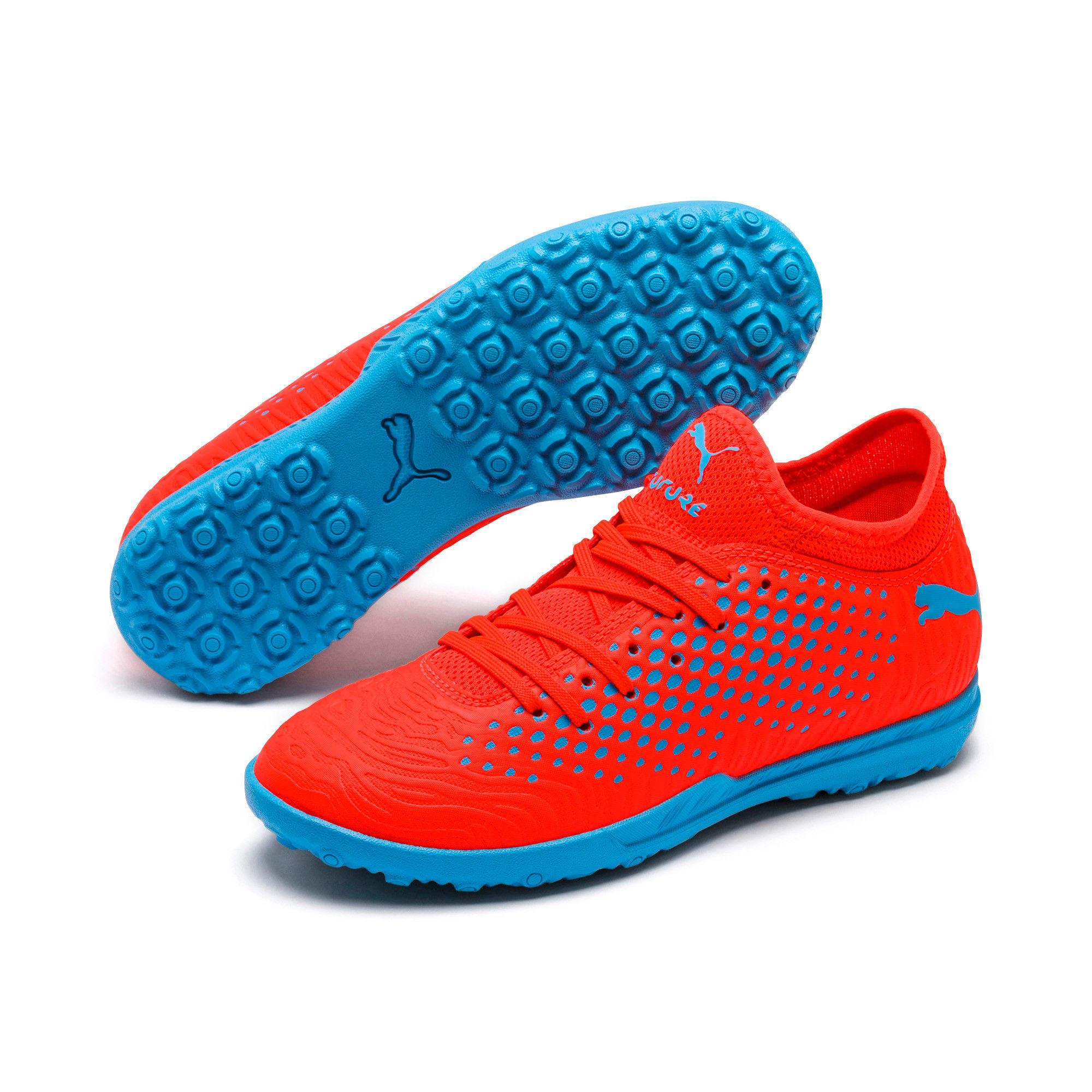 Thumbnail 2 of FUTURE 19.4 TT Soccer Shoes JR, Red Blast-Bleu Azur, medium