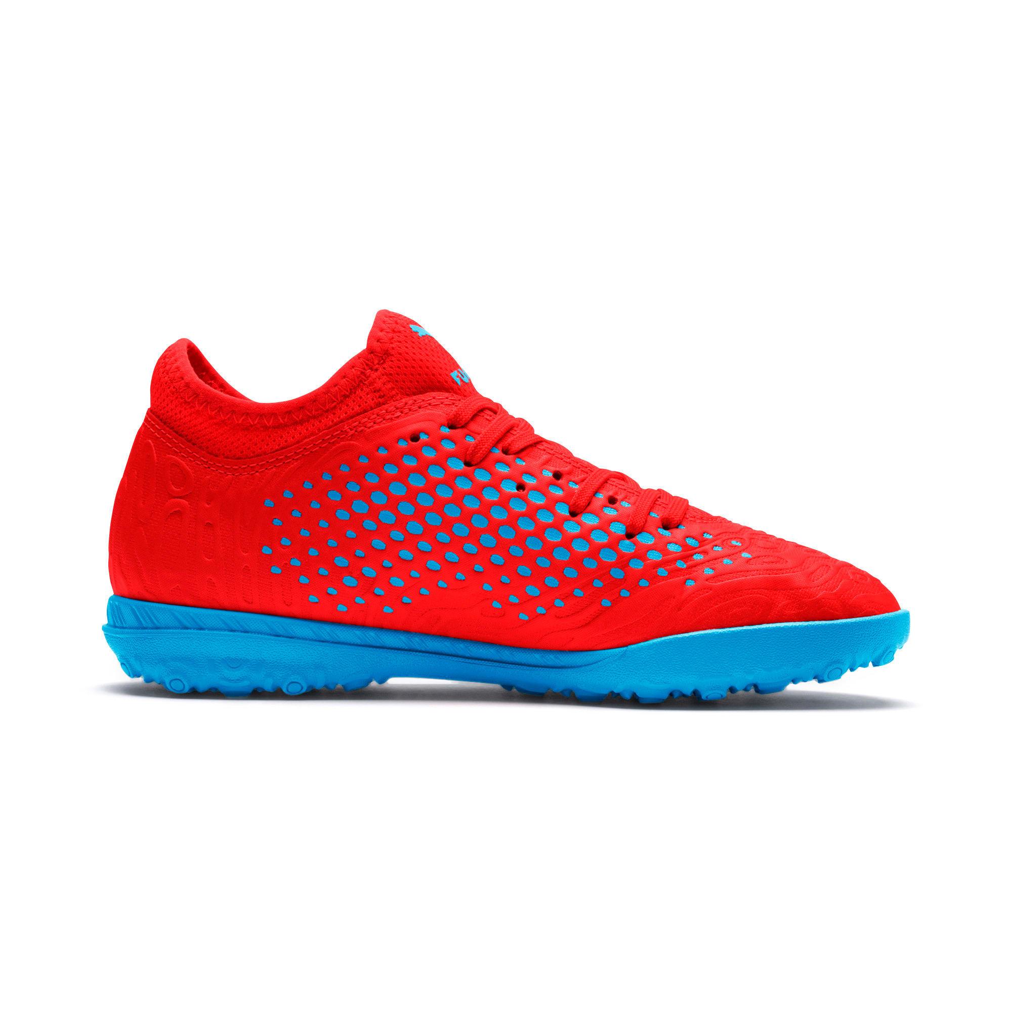 Thumbnail 5 of FUTURE 19.4 TT Soccer Shoes JR, Red Blast-Bleu Azur, medium