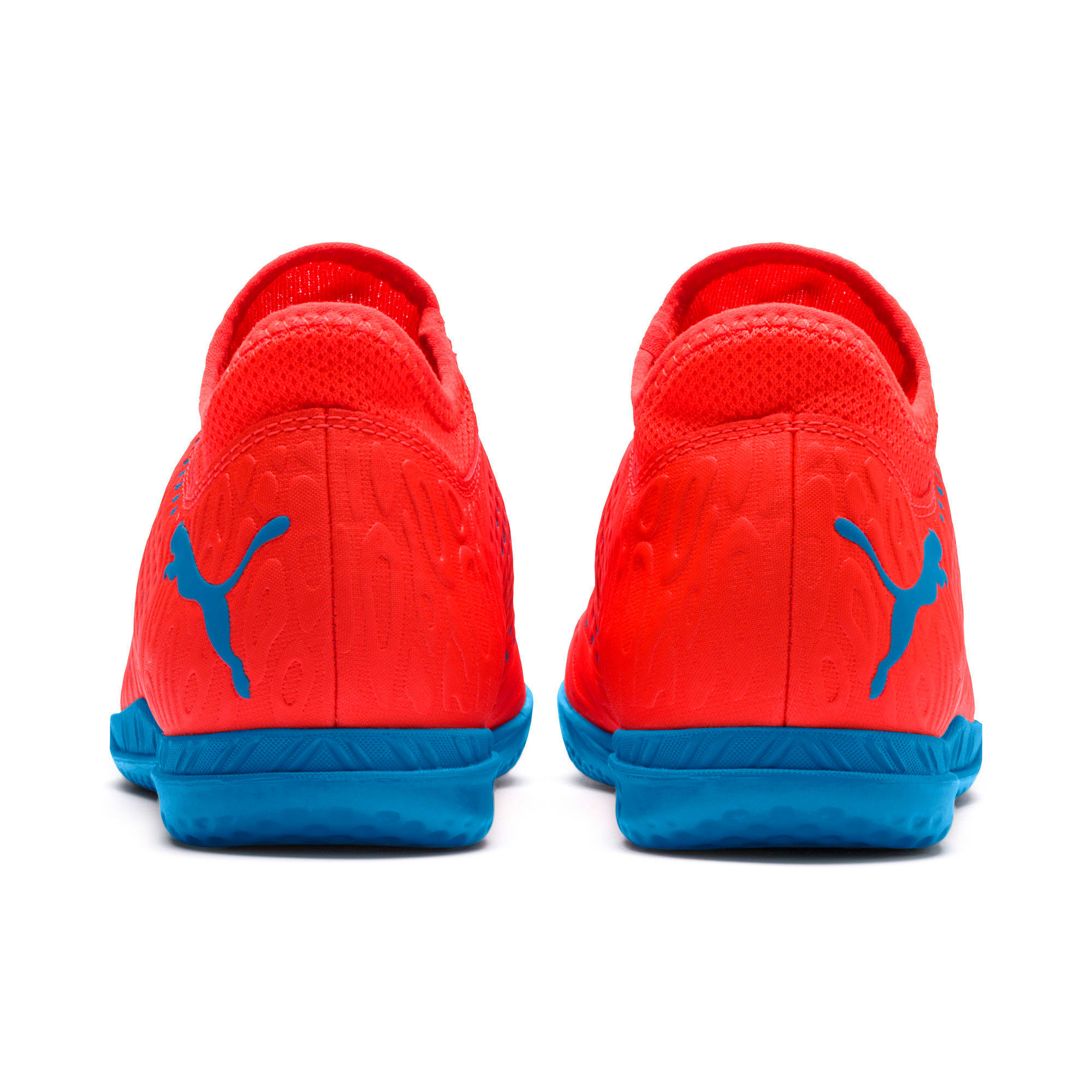 Thumbnail 3 of FUTURE 19.4 IT Soccer Shoes JR, Red Blast-Bleu Azur, medium